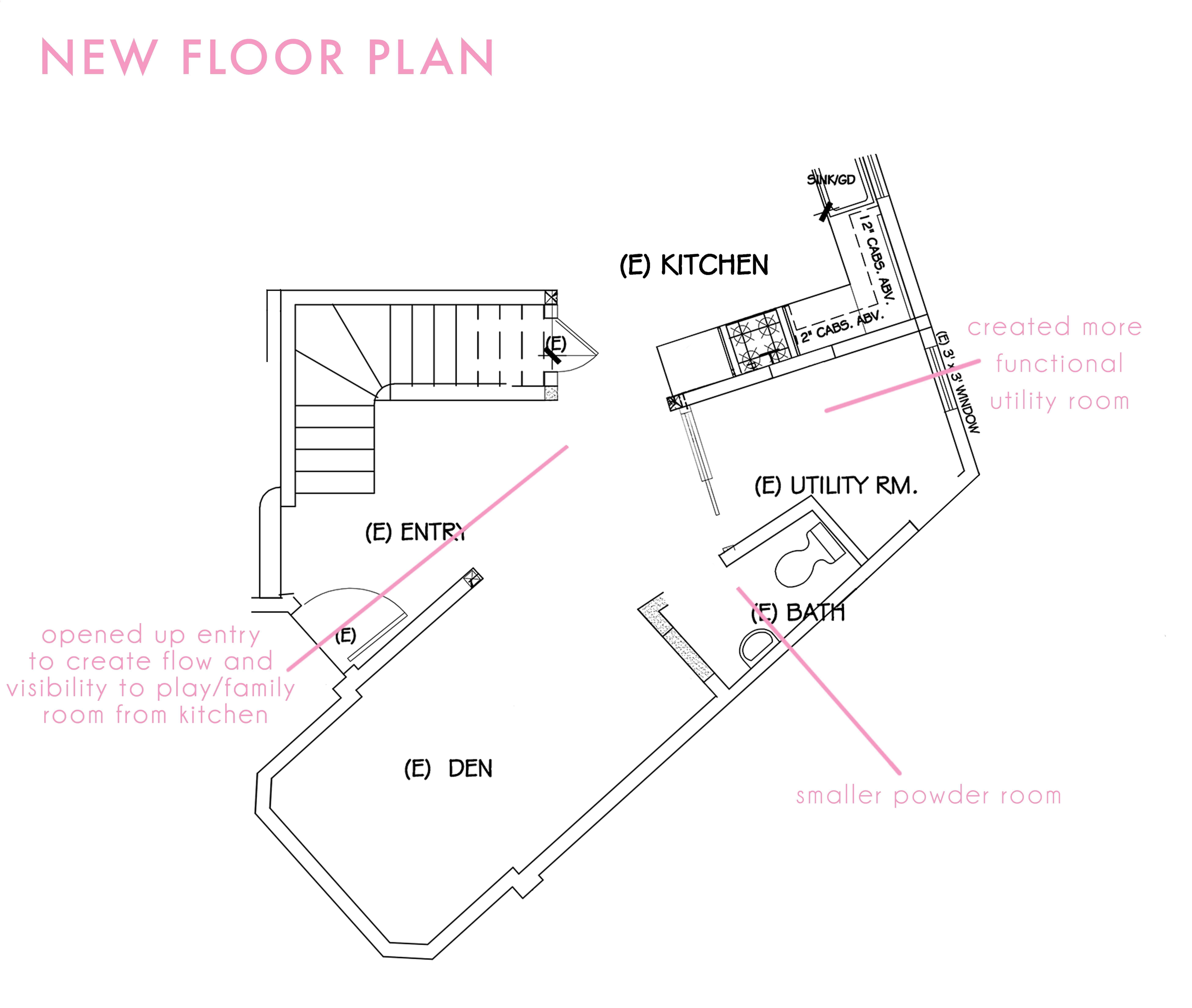 Emily Henderson New Floor Plan Powder Room