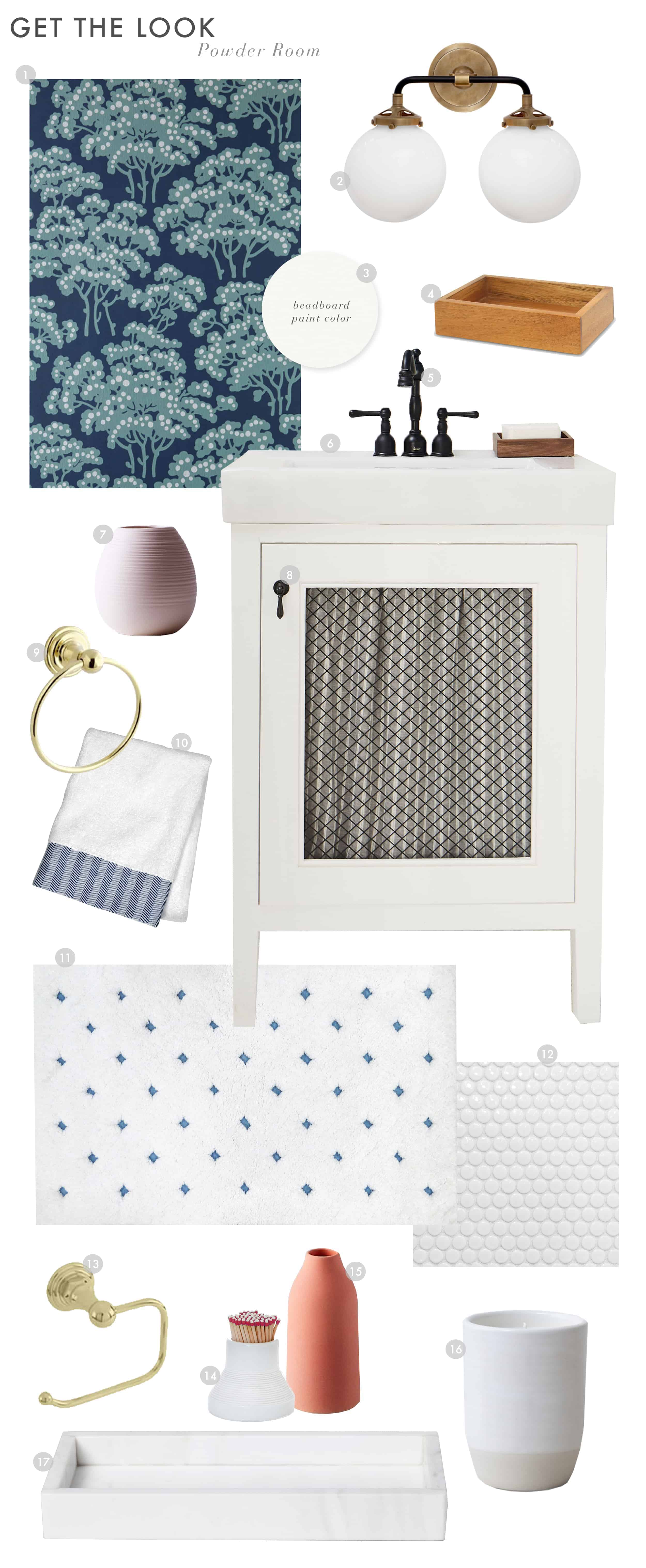 Emily Henderson Powder Room Reveal Get The Look2