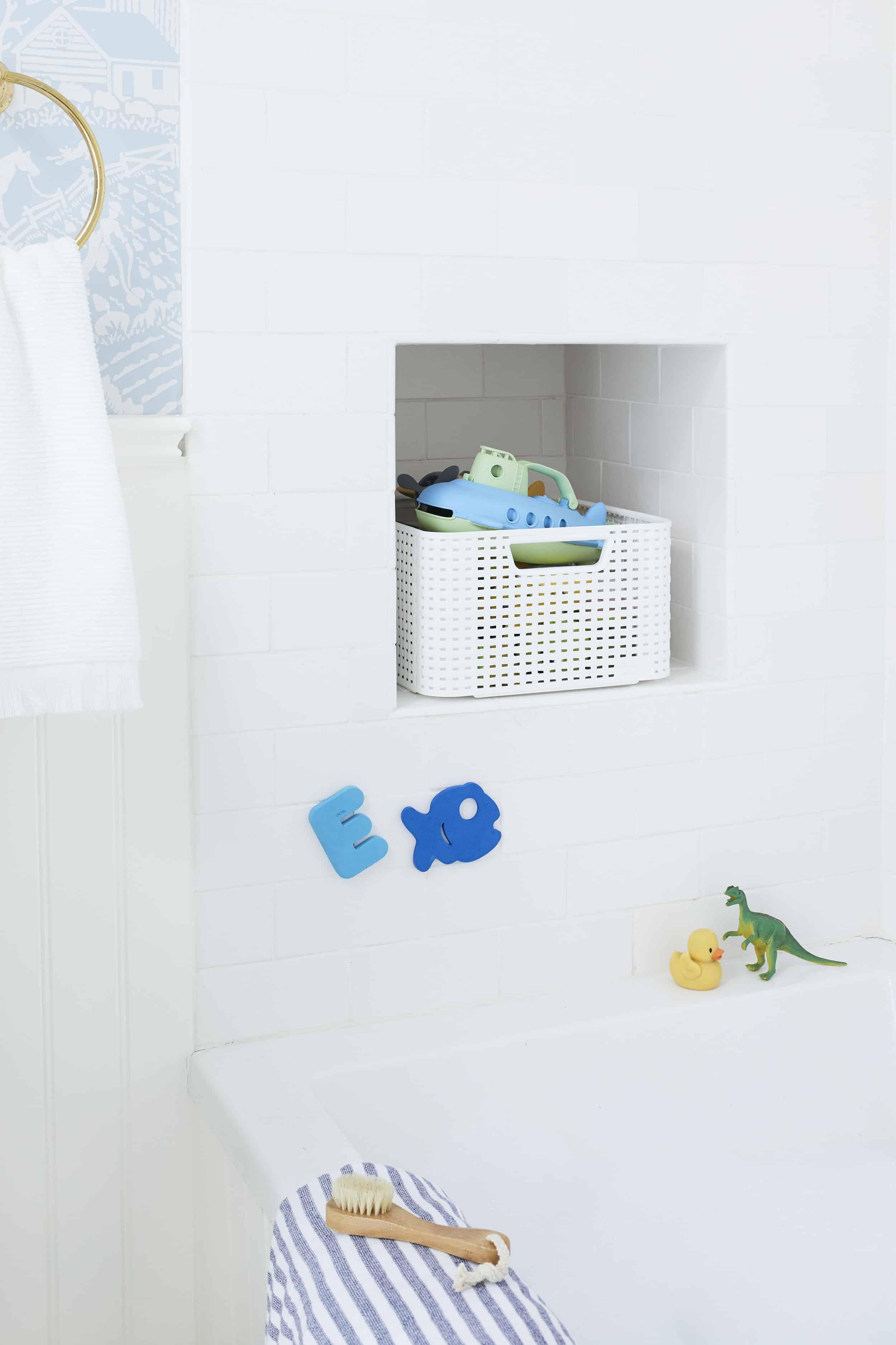 Kids Bathroom Shower Cubby