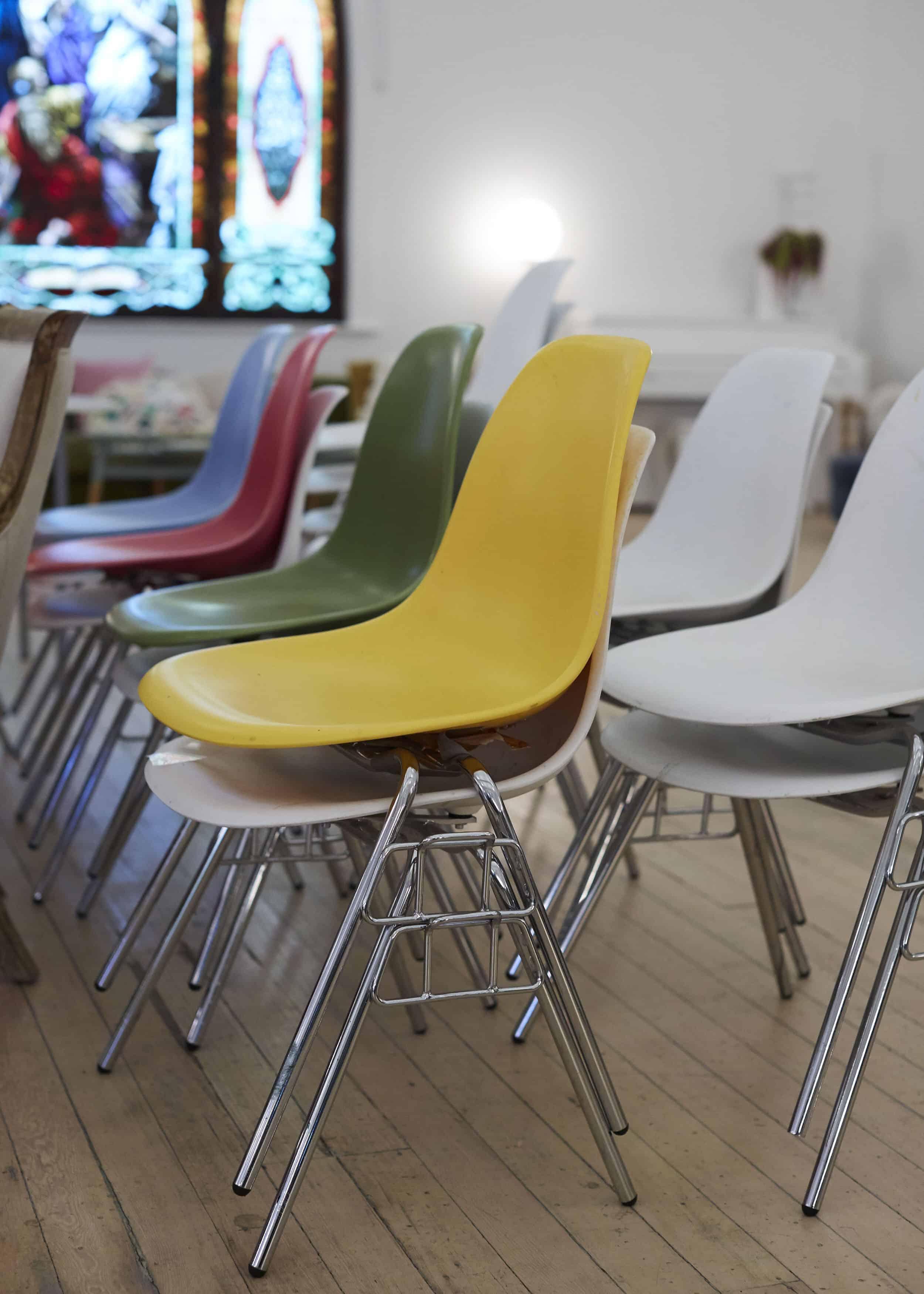 Modern Rainbow Case Made Chair
