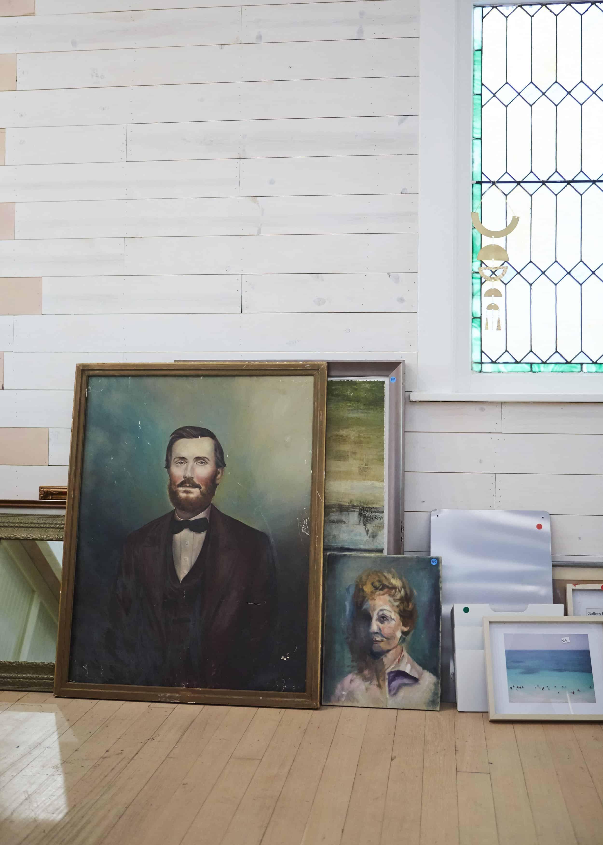 Vintage Oil Paintings Rummage Sale