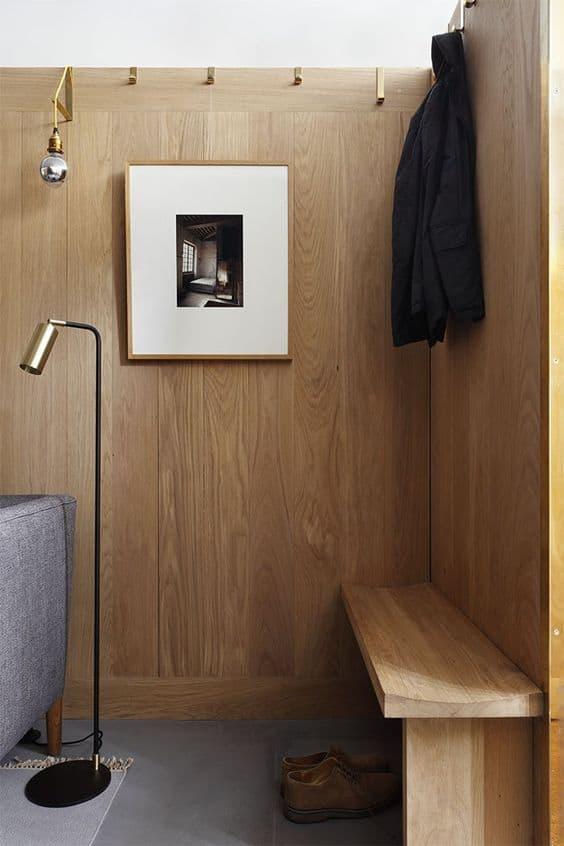 Modern Wall Wainscoting Paneled Walls Raw Wood