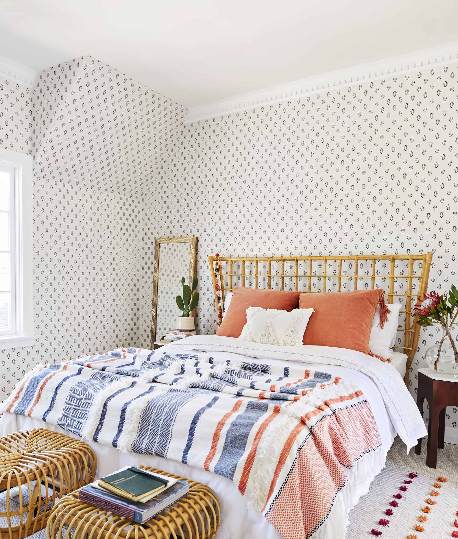70s Inspired Bohemian Bedroom