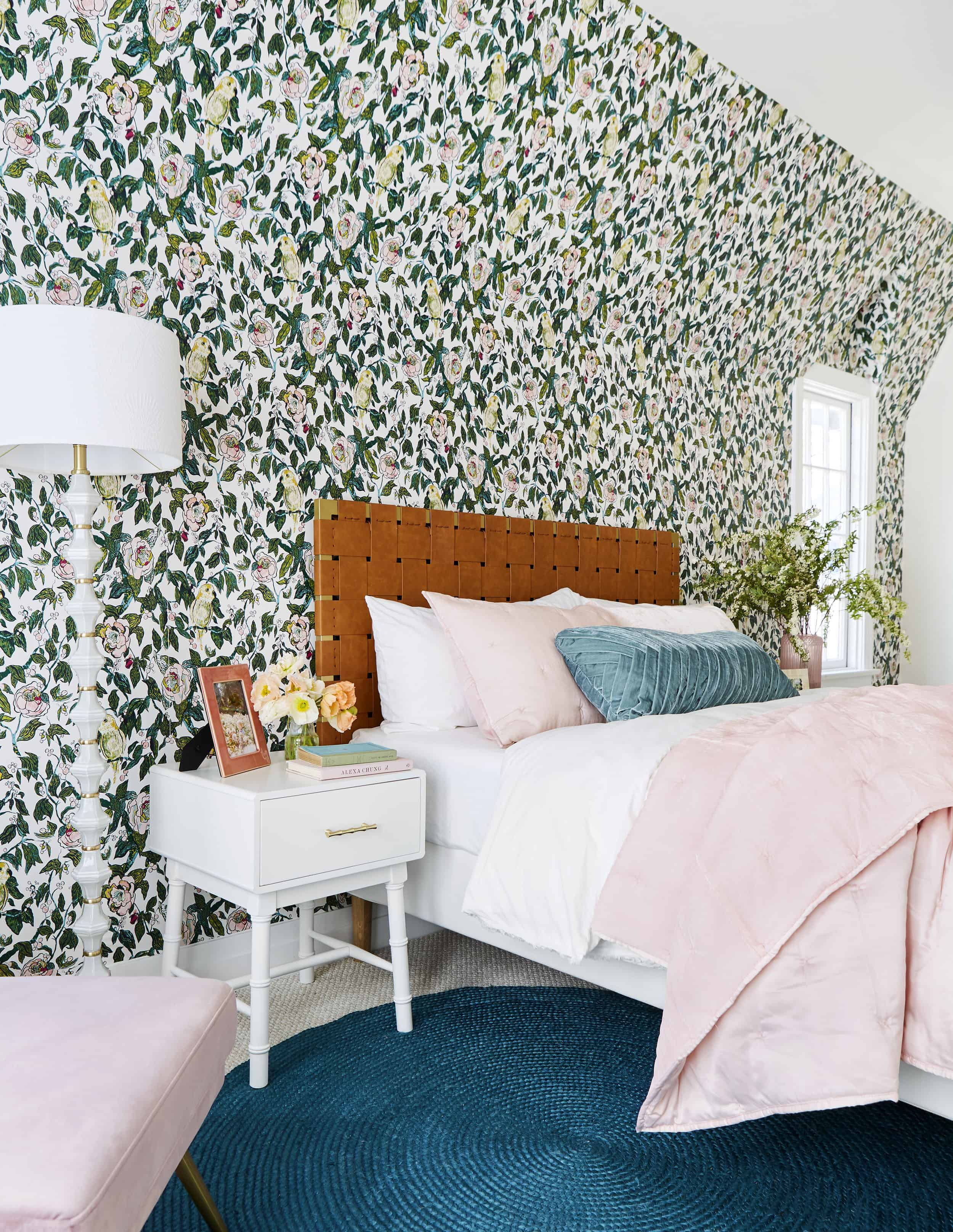 Colorful Vintage Inspired Glam Bedroom