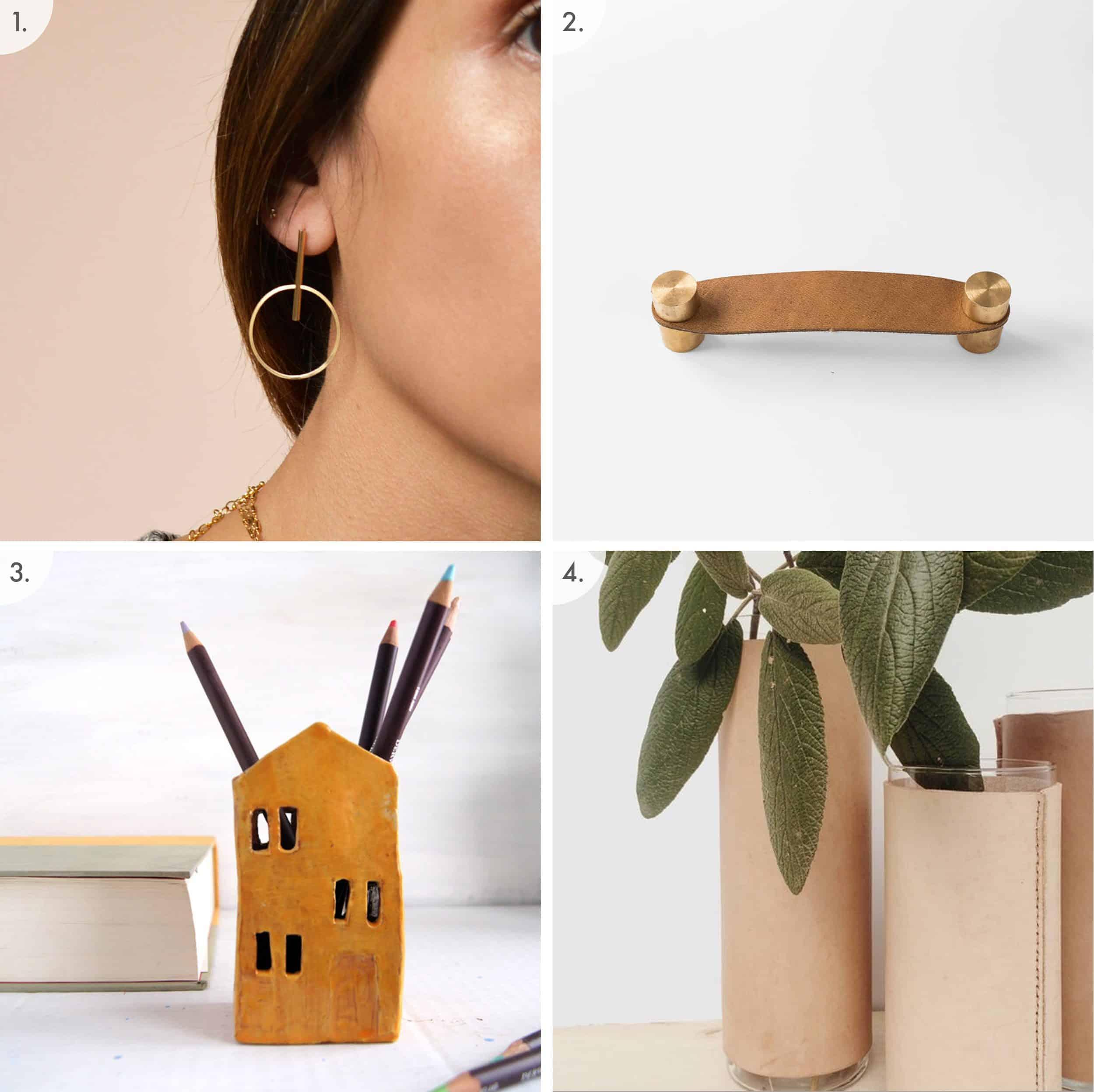Earring Handle House Vase