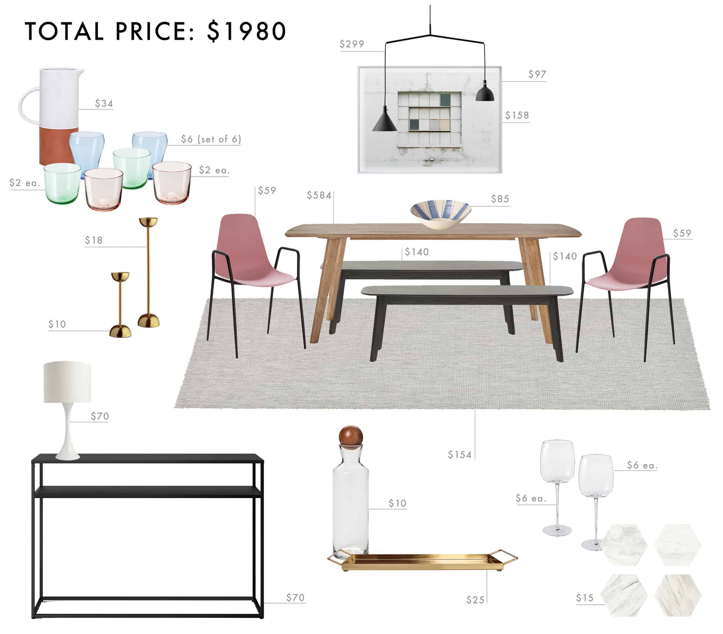 Emily Henderson Budget Room Design Colorful Mid Century Modern Dining Room Under 2000