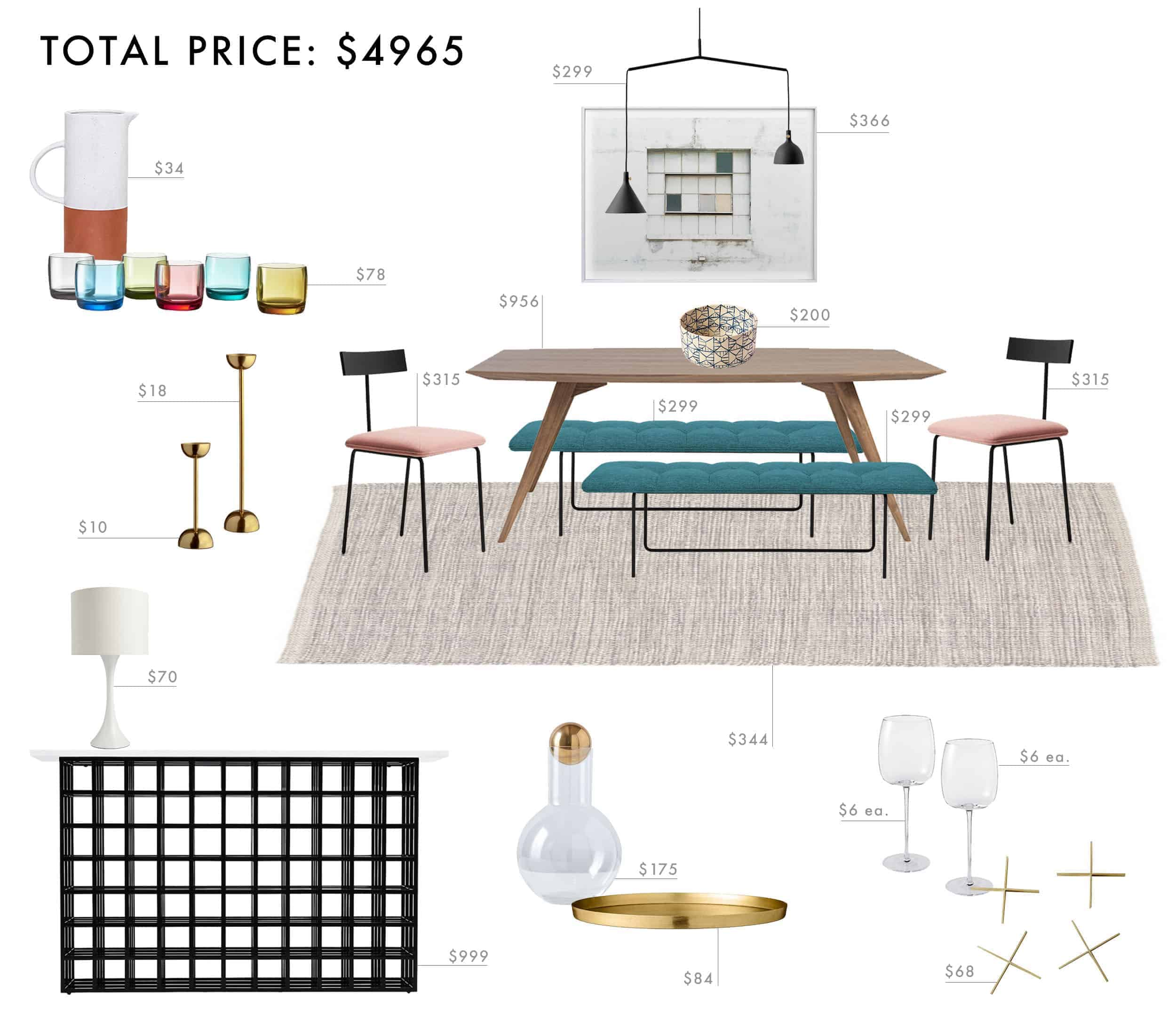 Emily Henderson Budget Room Design Colorful Mid Century Modern Dining Room Under 5000 New