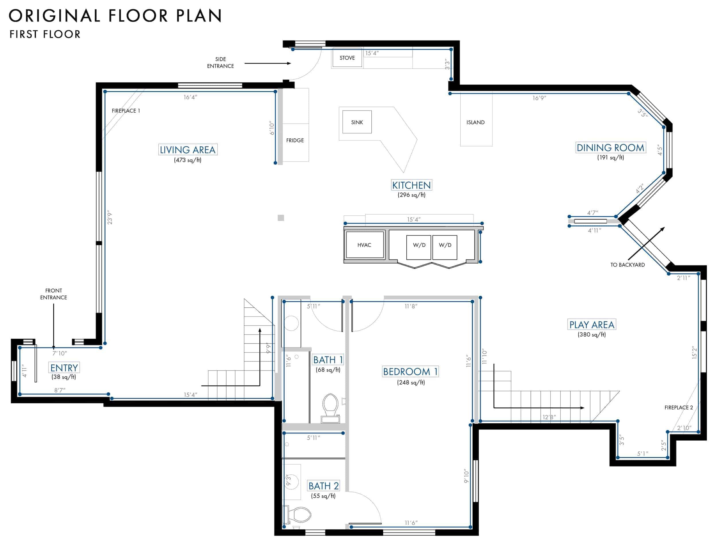 Emily Henderson Lake House Floor Plan First Floor Entire Floor Original Plan