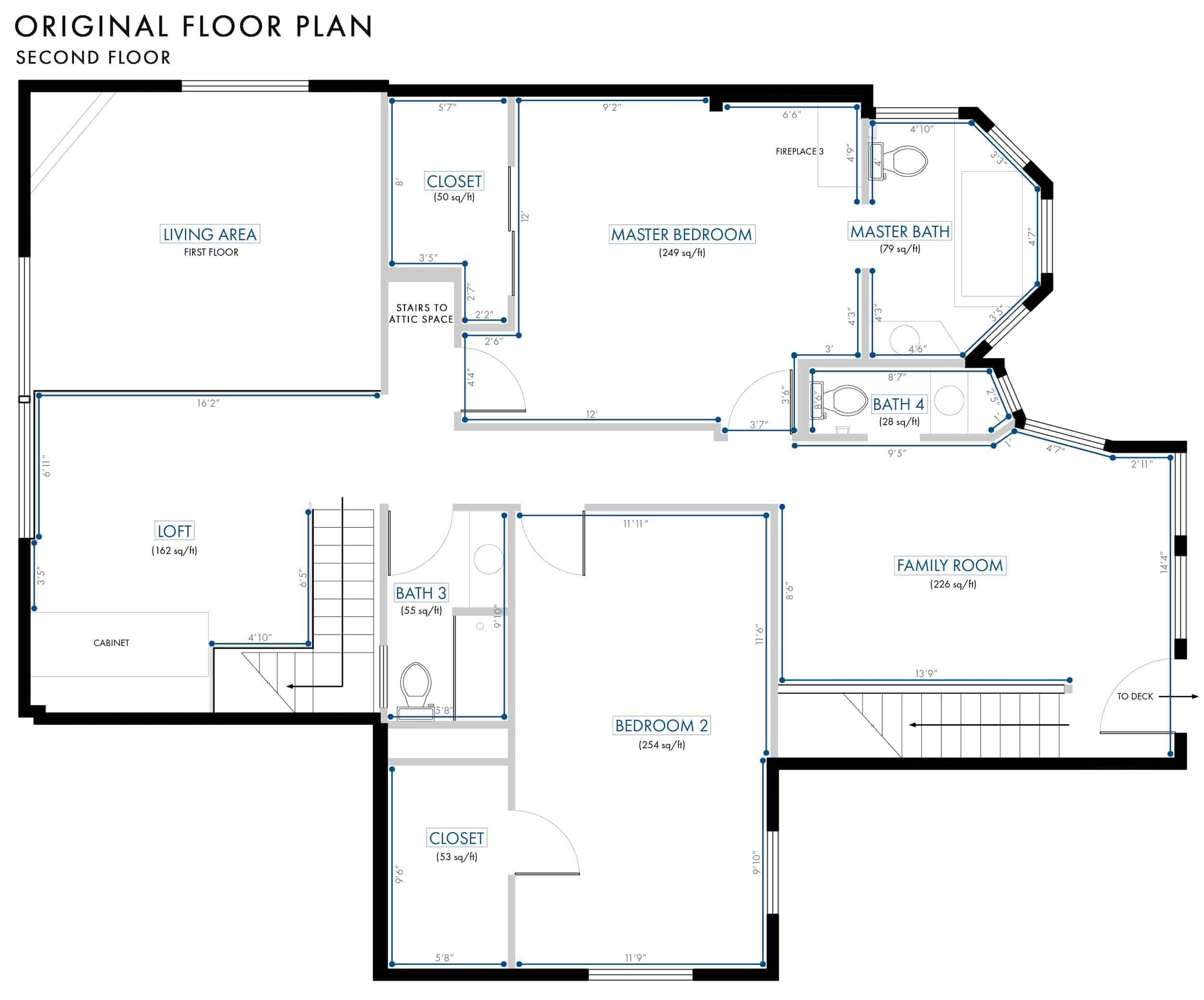 Emily Henderson Lake House Floor Plan Second Floor Entire Floor Original Plan