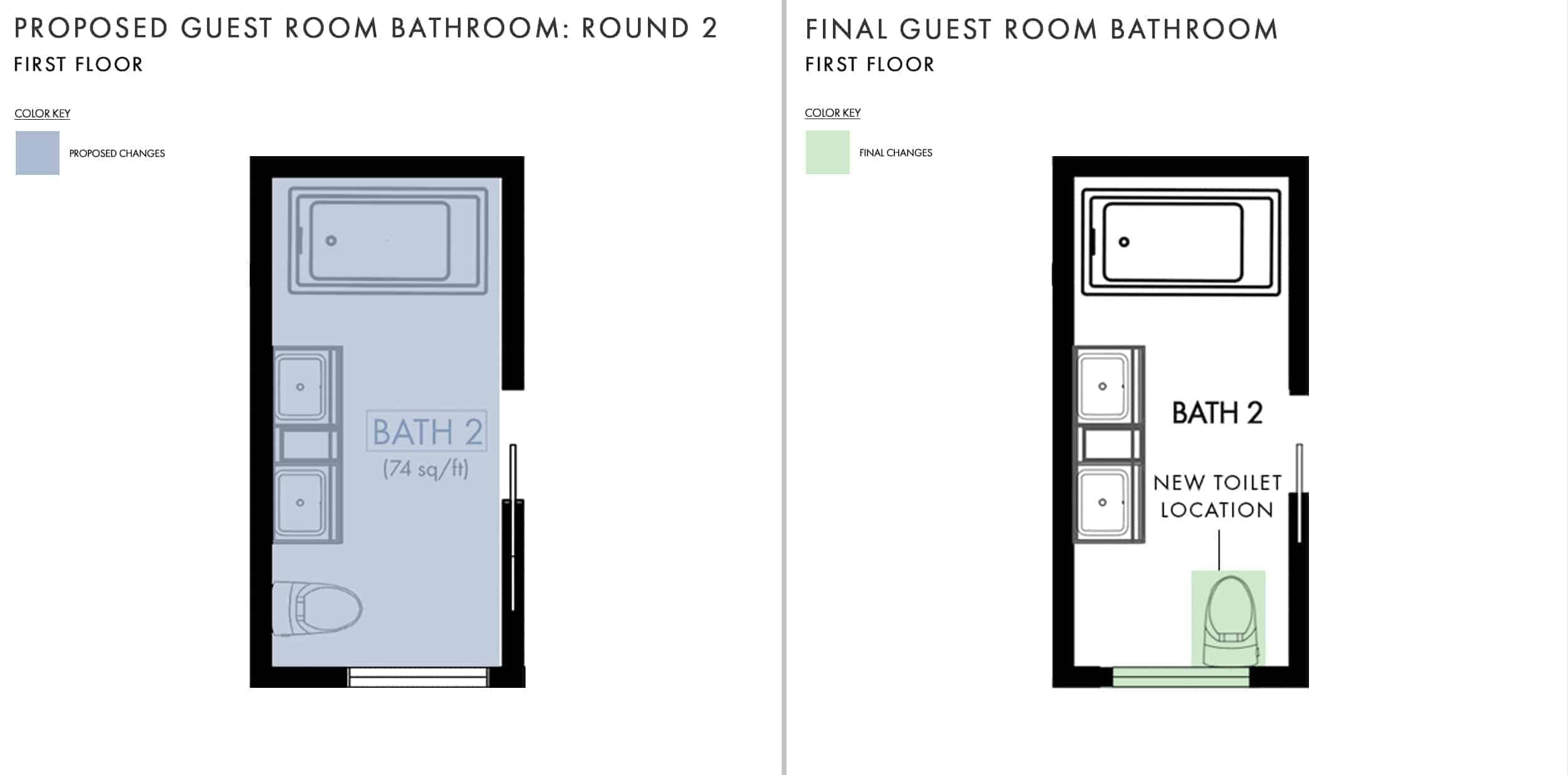 Emily Henderson Mountain House Fixer Upper Floor Guest Bedroom Bathroom Side By Side
