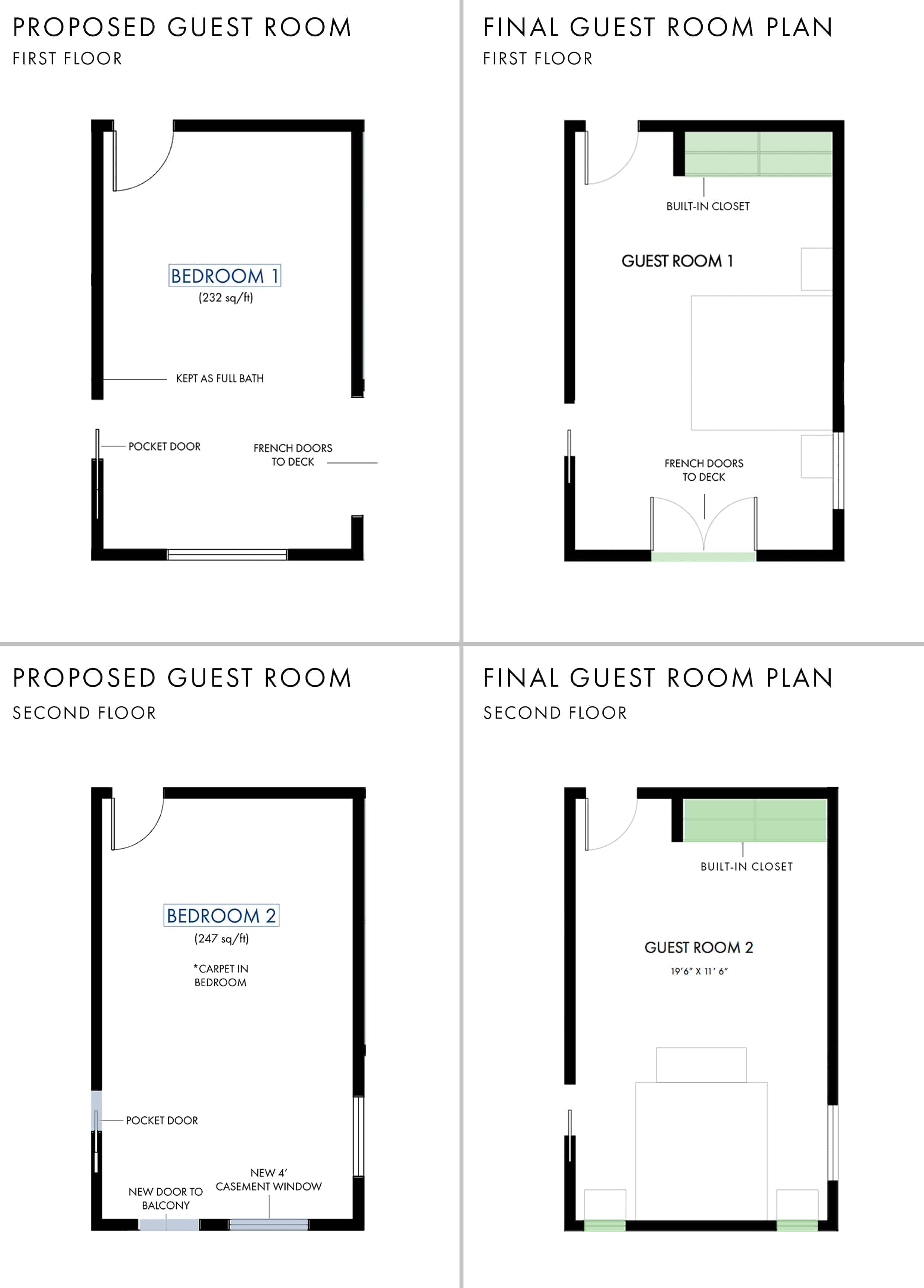 Emily Henderson Mountain House Fixer Upper Floor Plans Guest Room Grid1