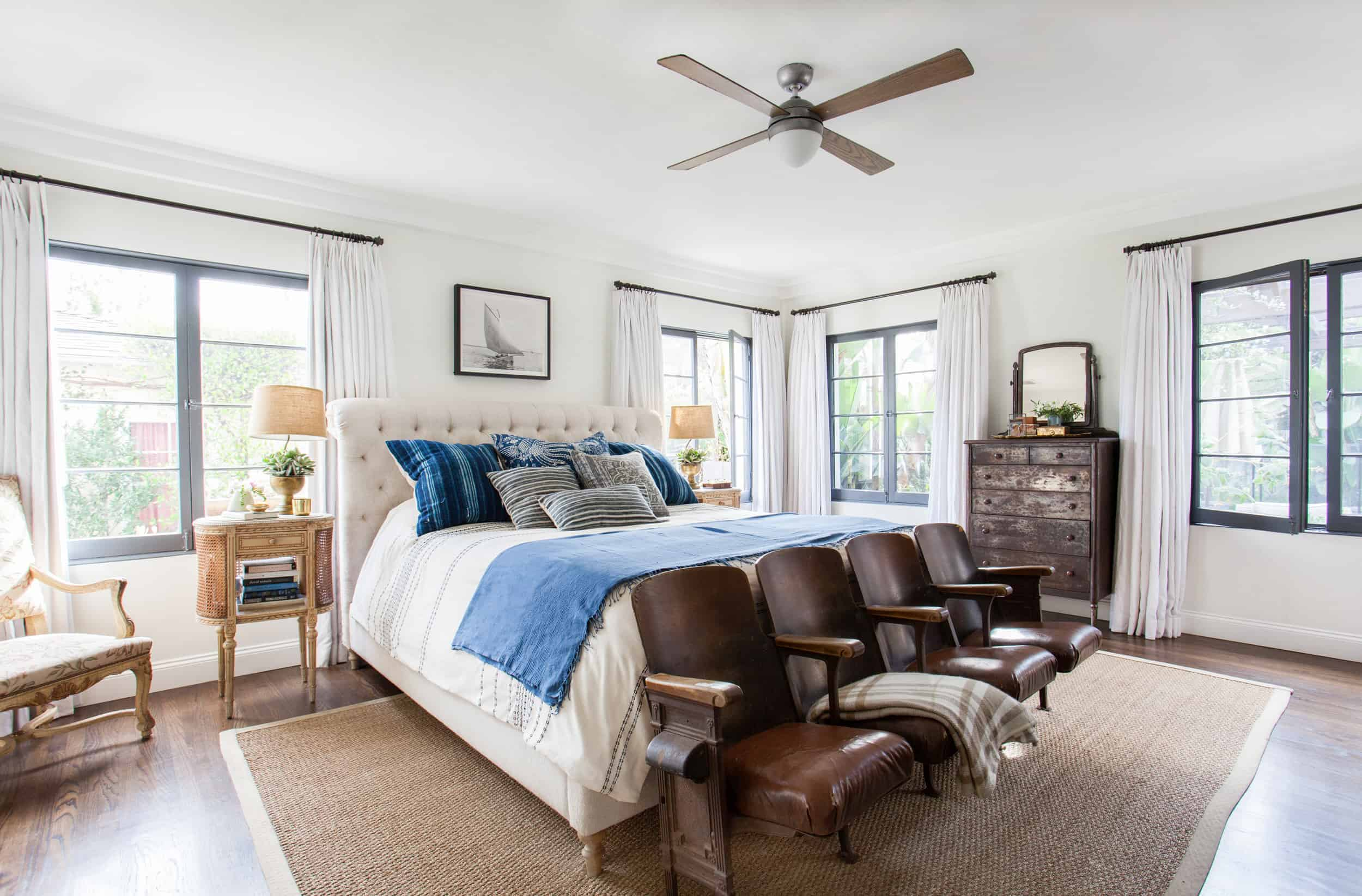 master bedroom vintage ceiling fan