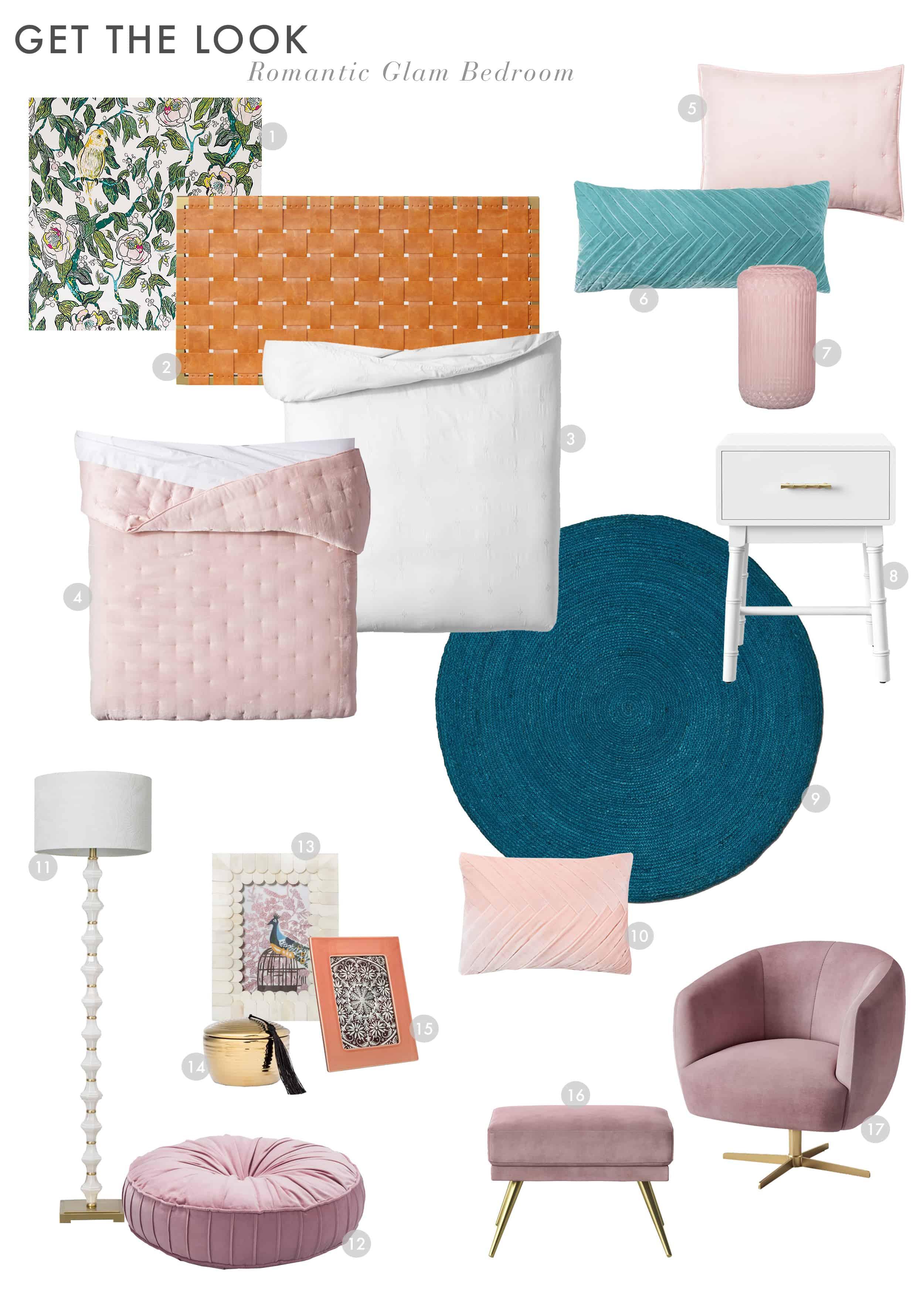 Emily Henderson Target Opalhouse Romantic Glam Bedroom Roundup