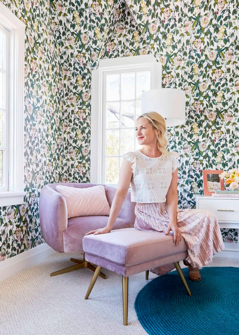 Emily Henderson Vintage Inspired Purple Chair Target