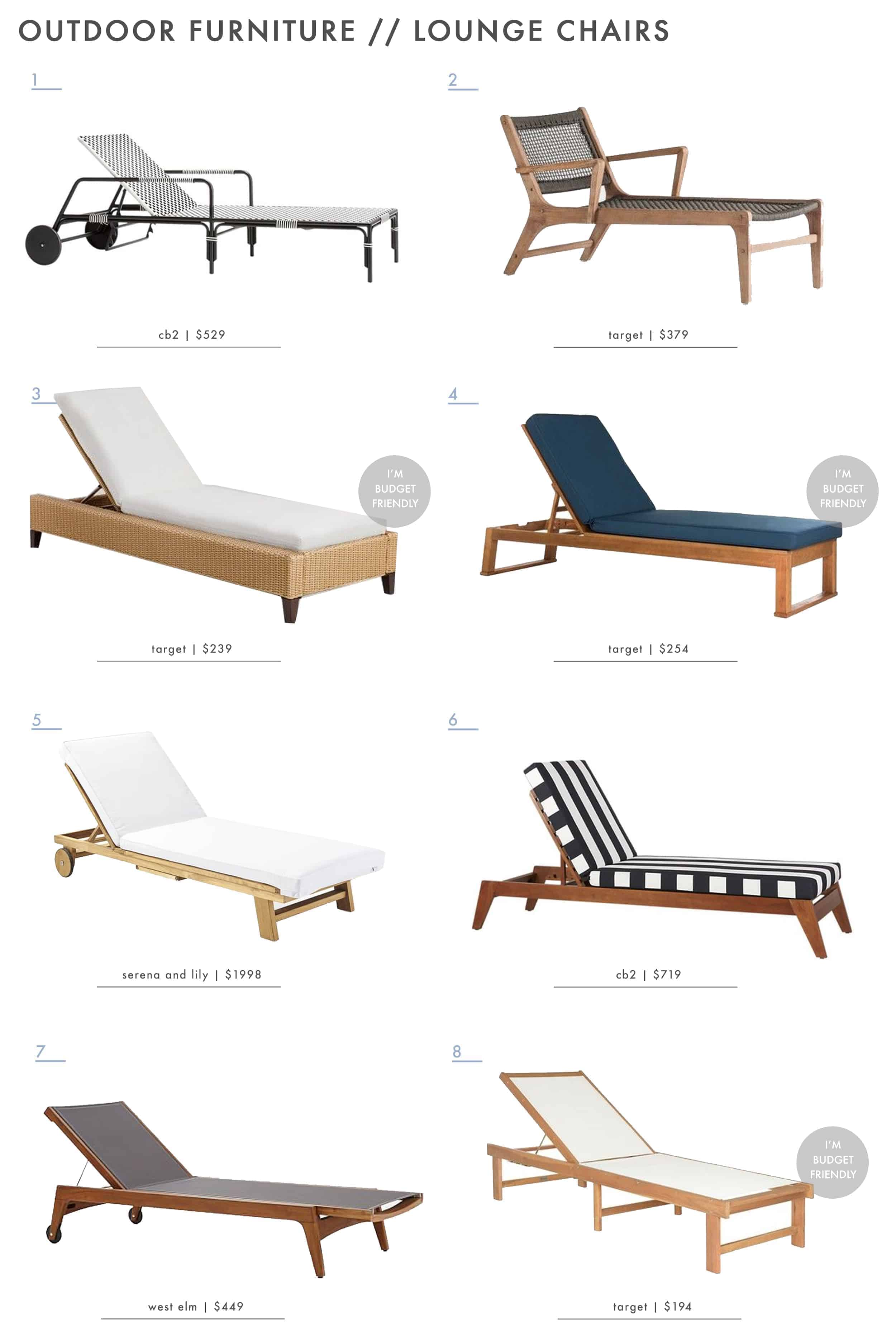 Outdoor Furniture Roundup Emily Henderson Lounge Furniture Lounge Chair Recliner Chaise1