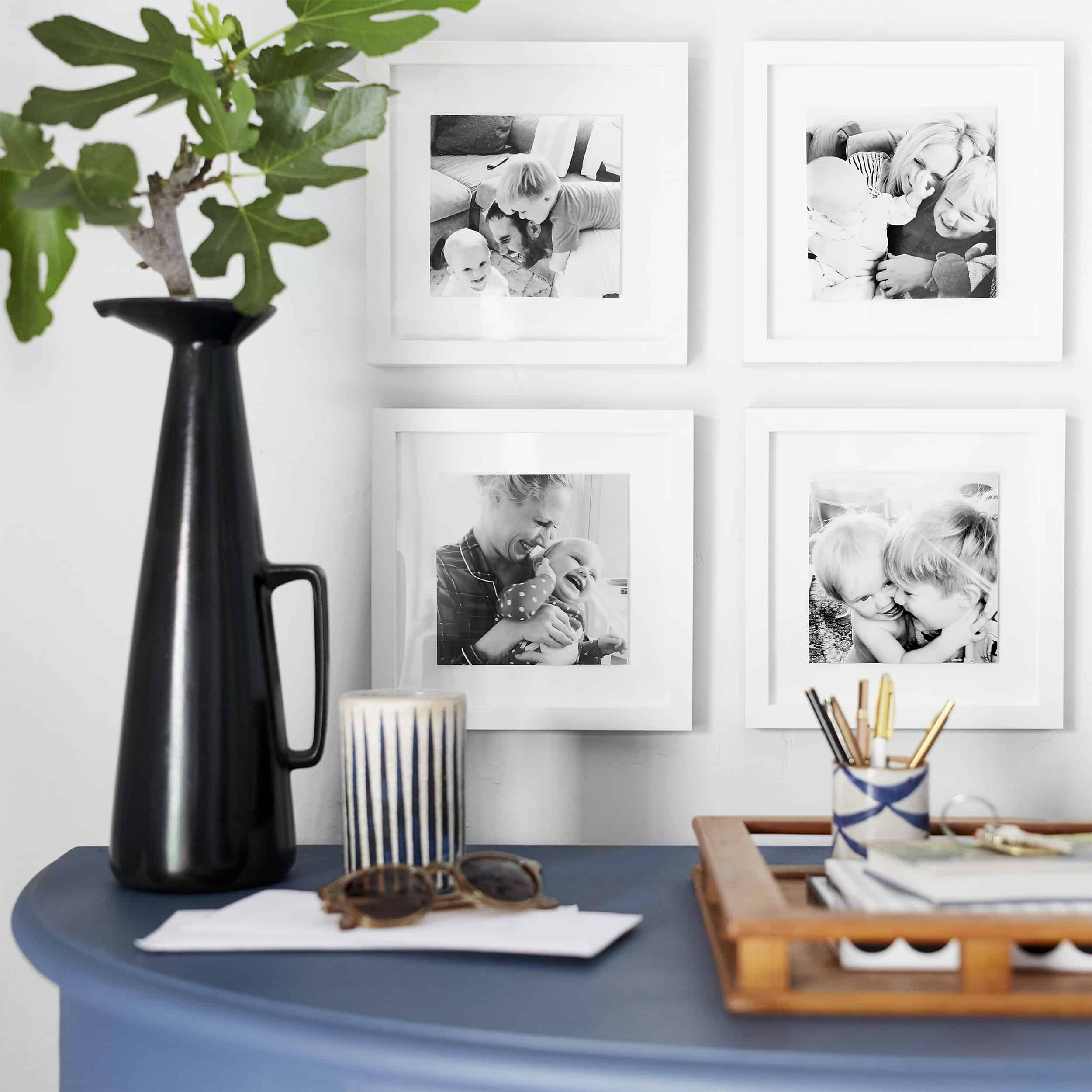 A Classic Family Photo Black And White Gallery Wall