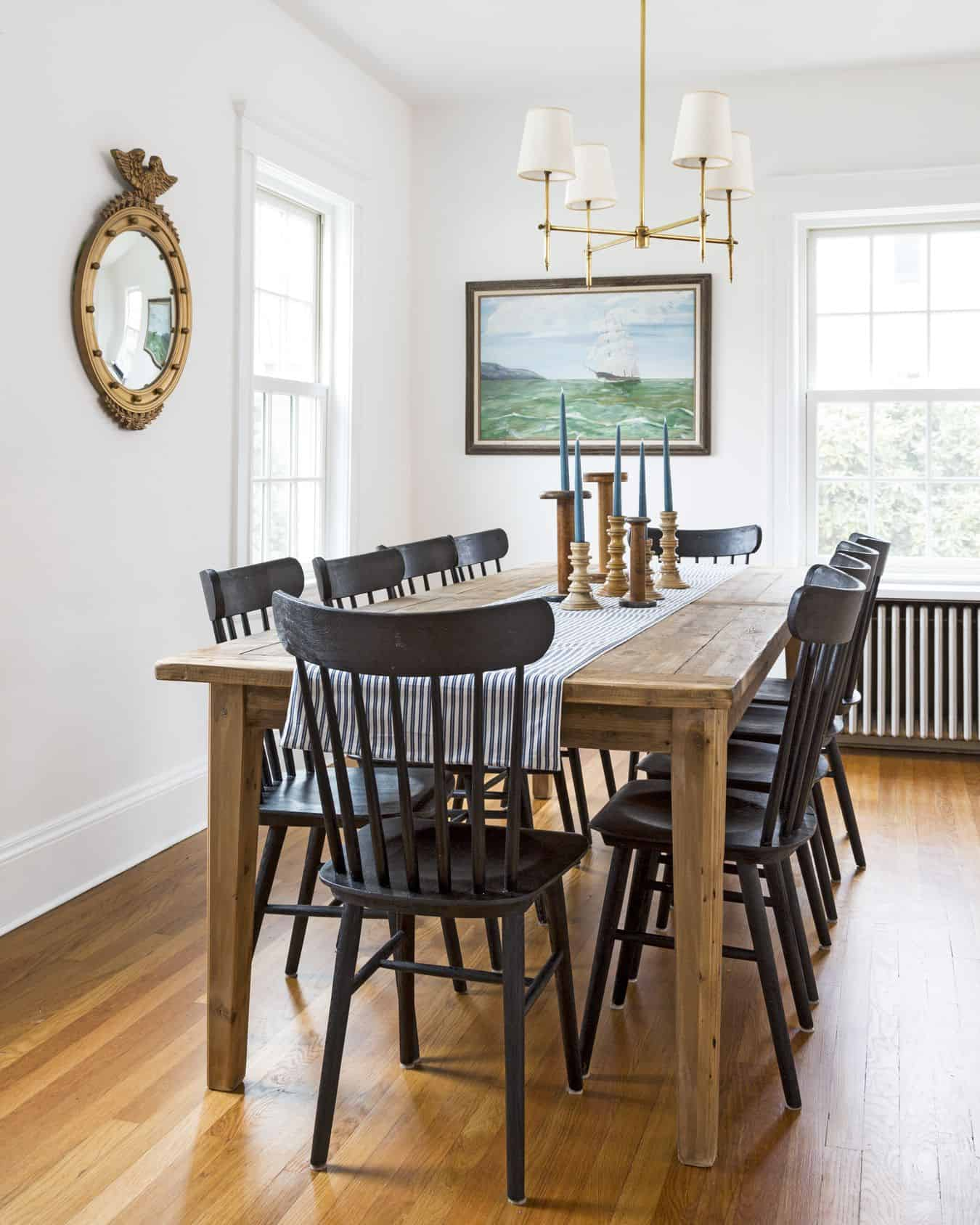 Traditional Dining Room Wood Table