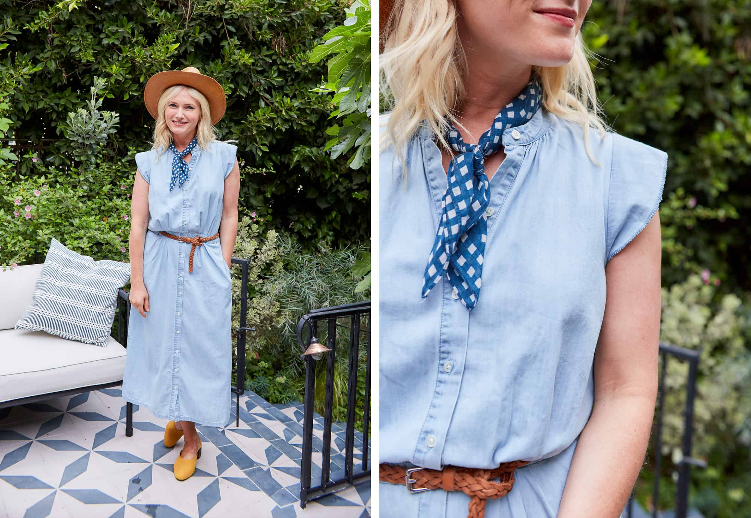 Emily Henderson Summer Fashion Basics Denim Dress