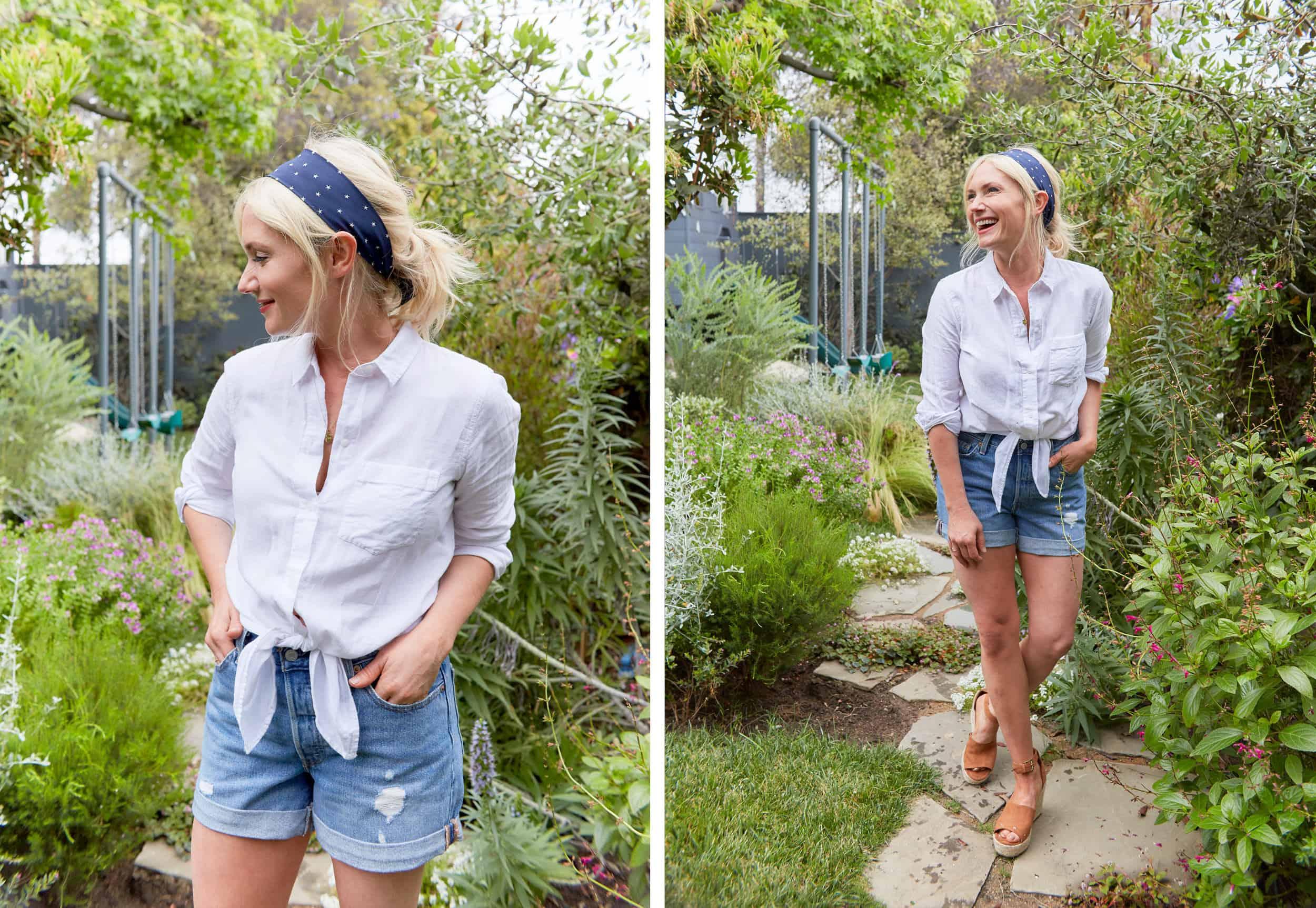 Emily Henderson Summer Fashion Basics Denim Shorts