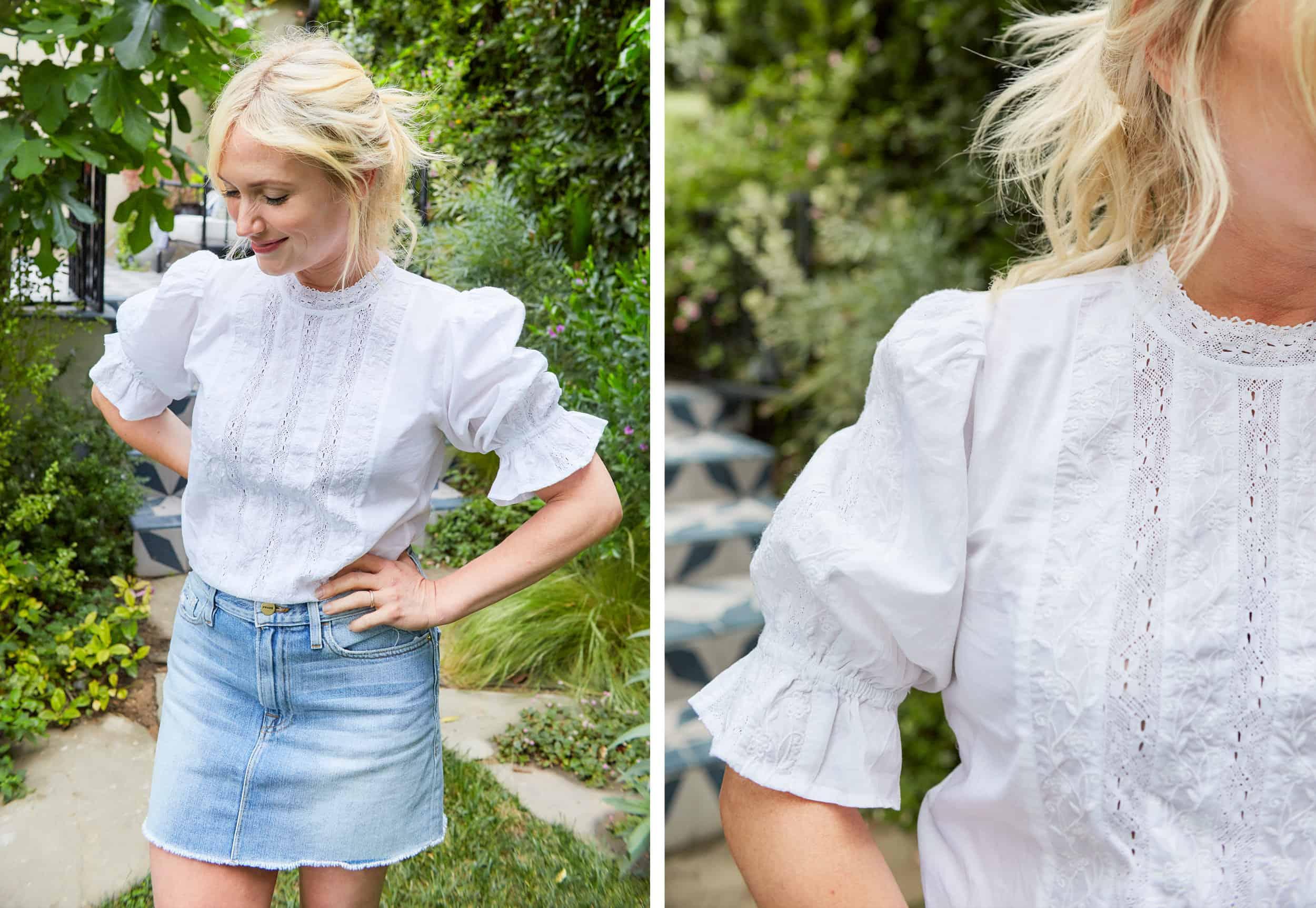 Emily Henderson Summer Fashion Basics Denim Skirt