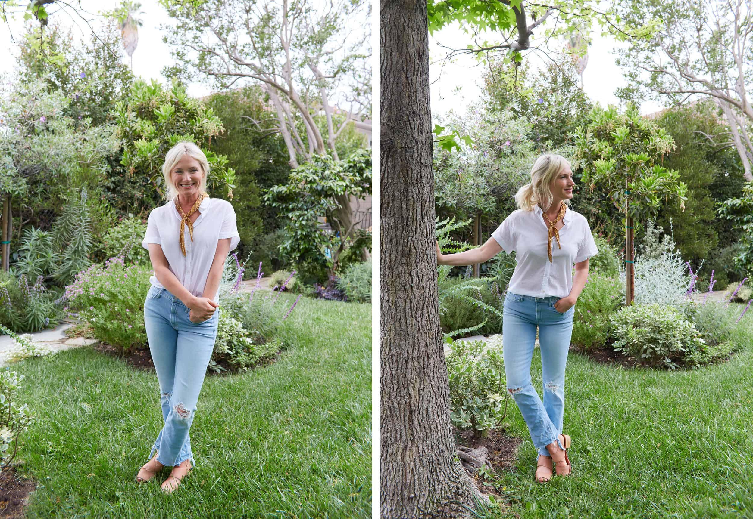 Emily Henderson Summer Fashion Basics Mother Denim Jeans