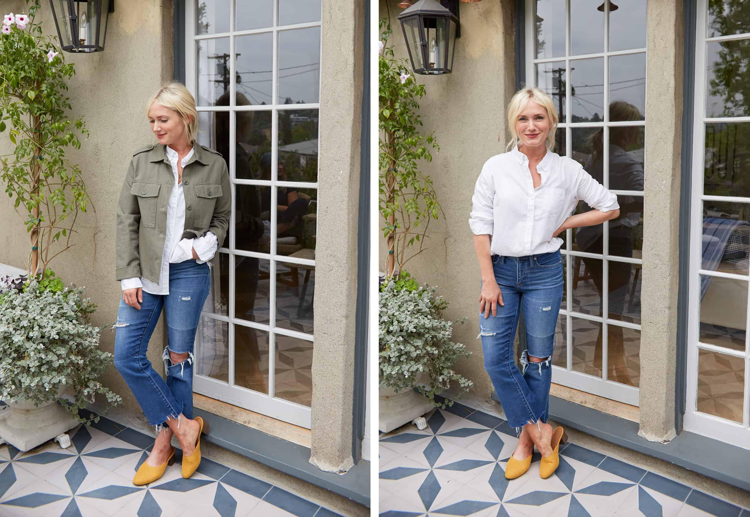 Emily Henderson Summer Fashion Basics Olive Jacket1