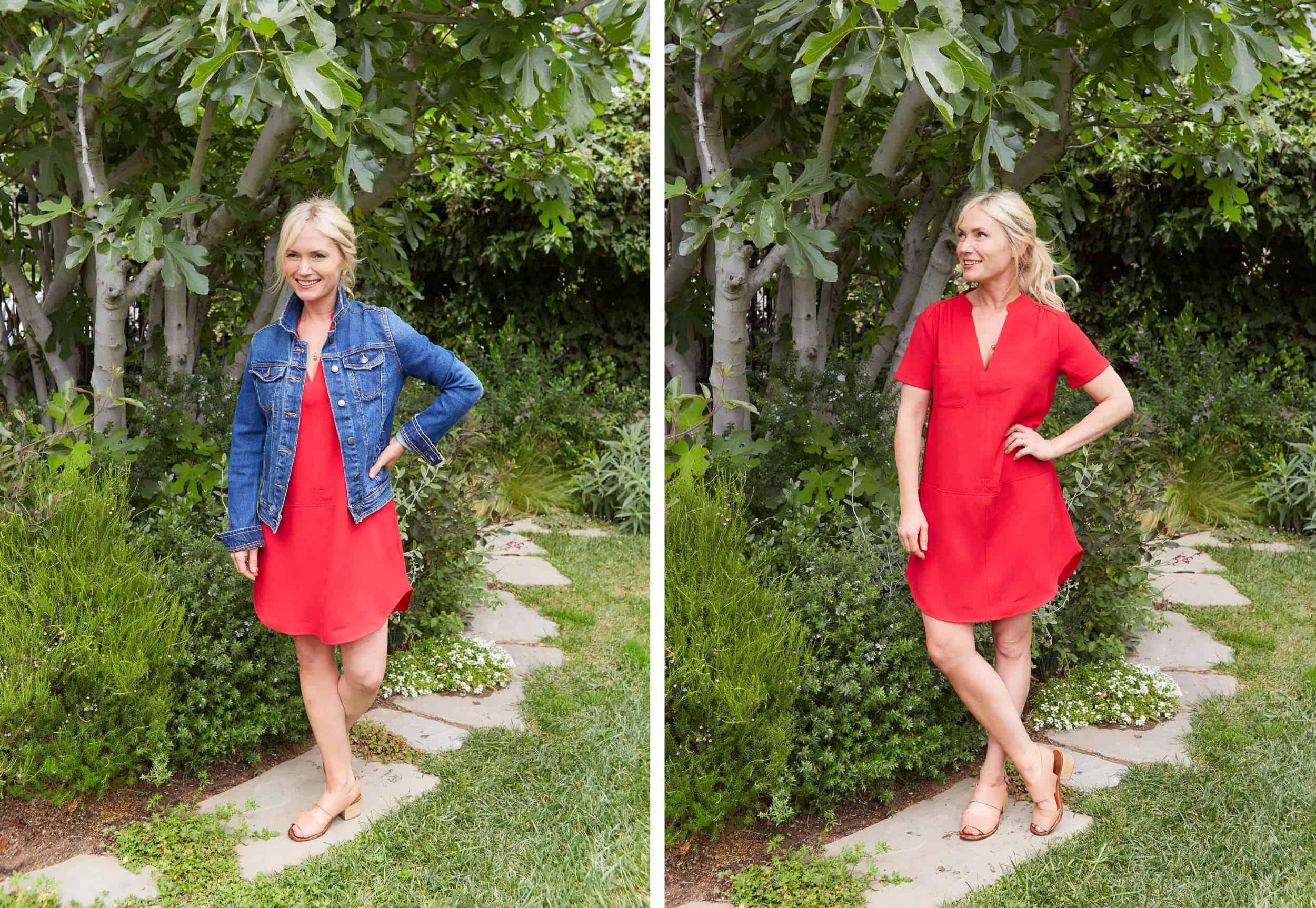 Emily Henderson Summer Fashion Basics Red Dress