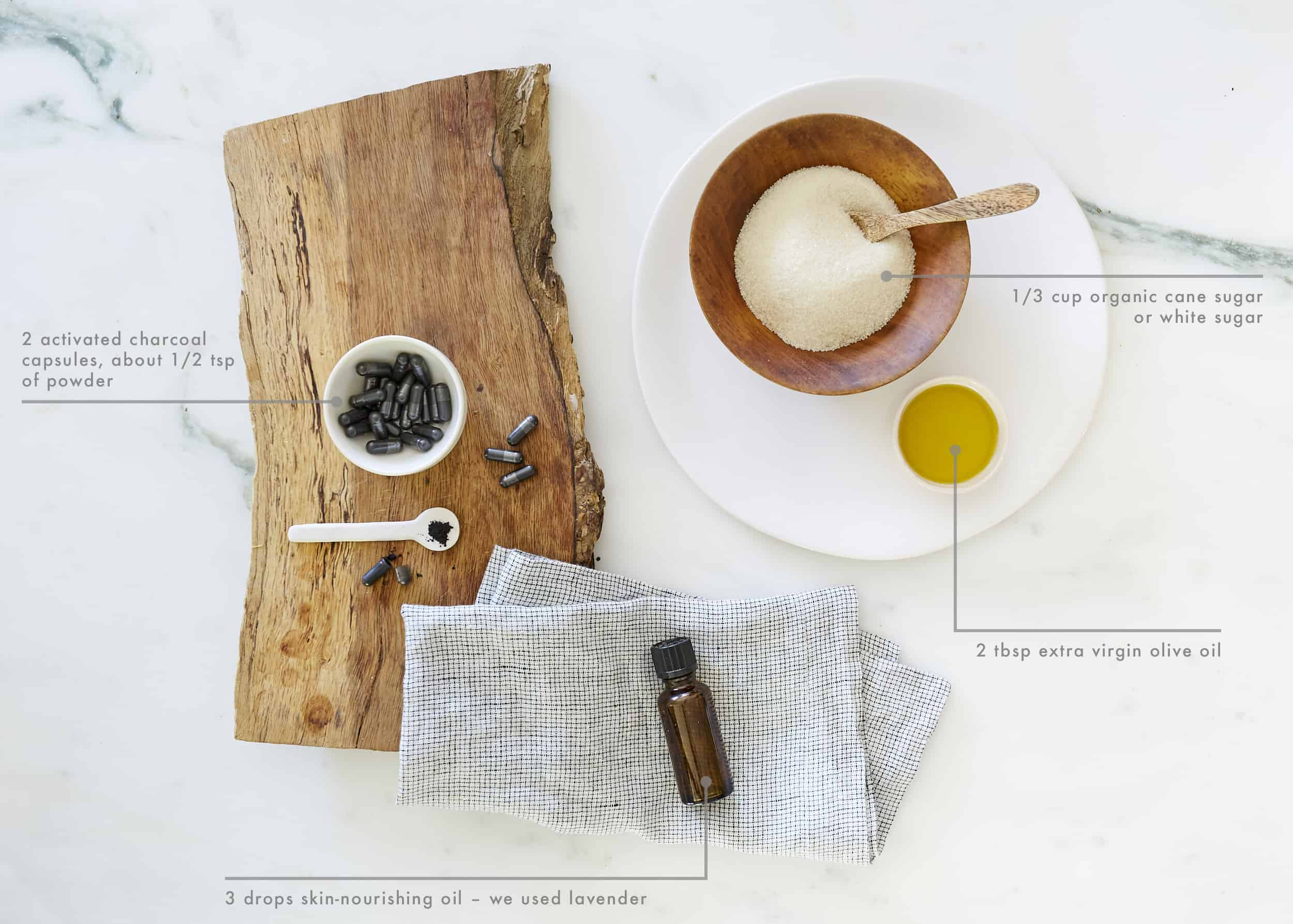 DIY Charcoal Face Mask Ingredients