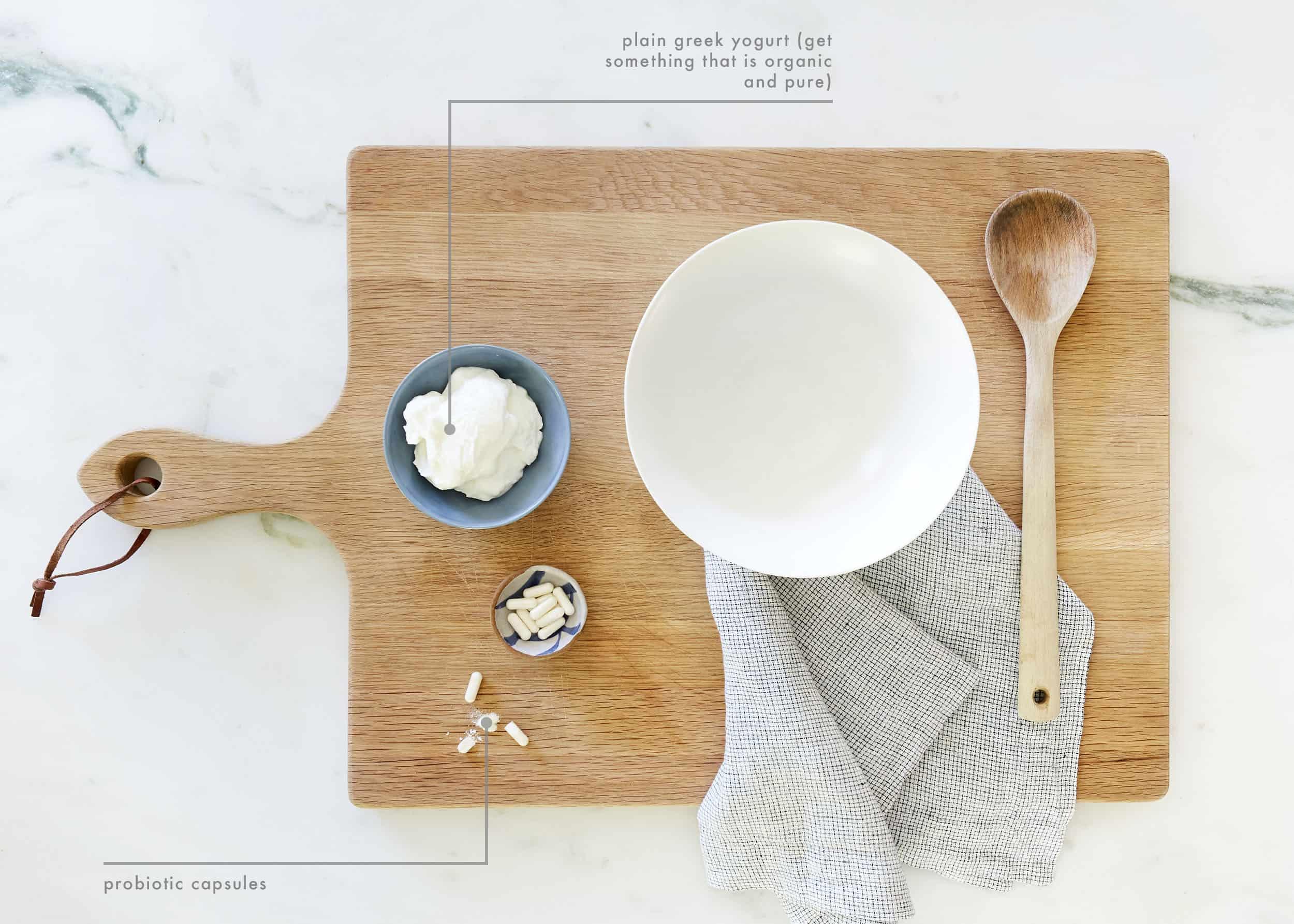 DIY Yogurt Mask Ingredients
