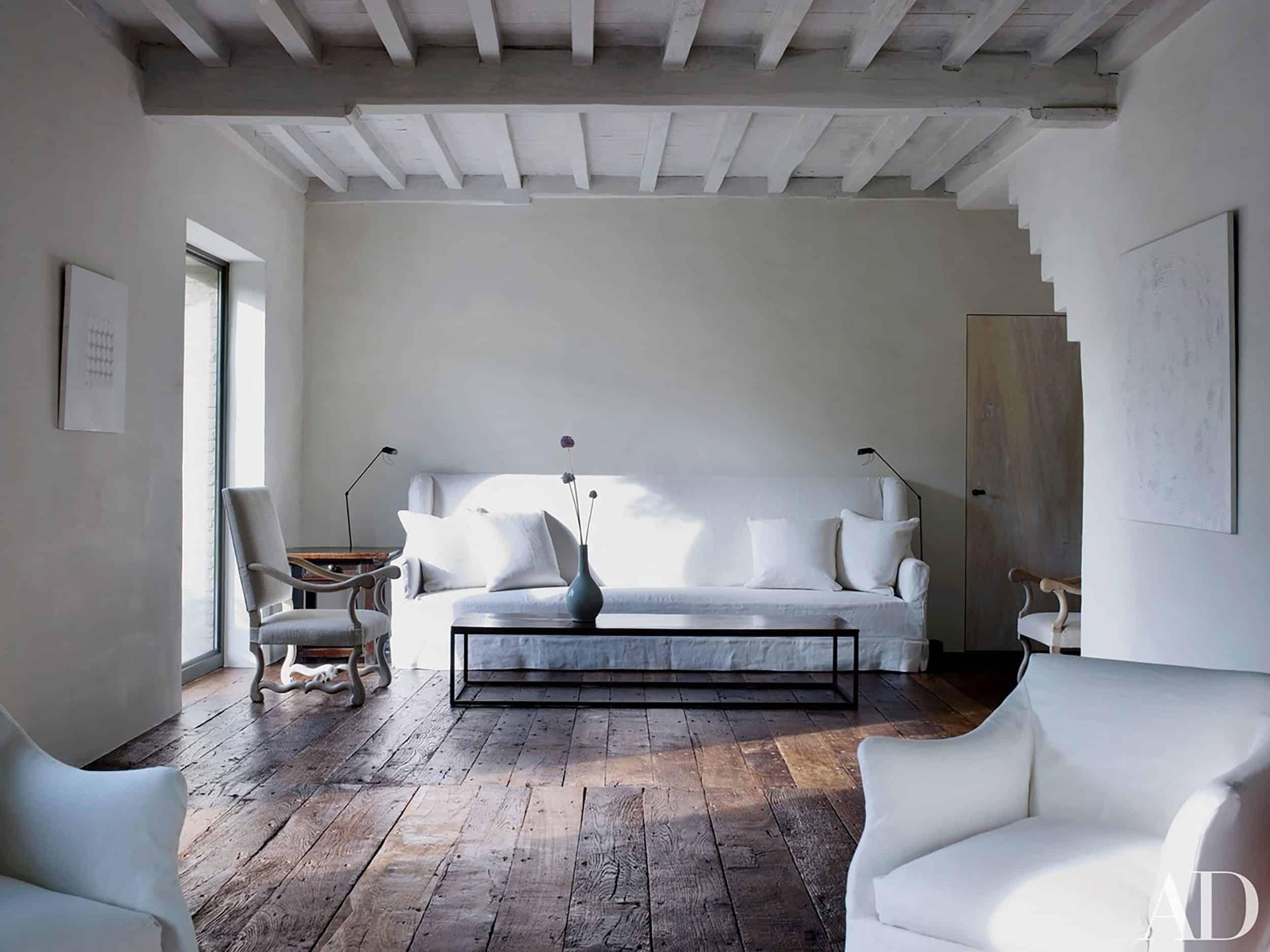 Minimal Belgian Living Room Axel Vervoordt