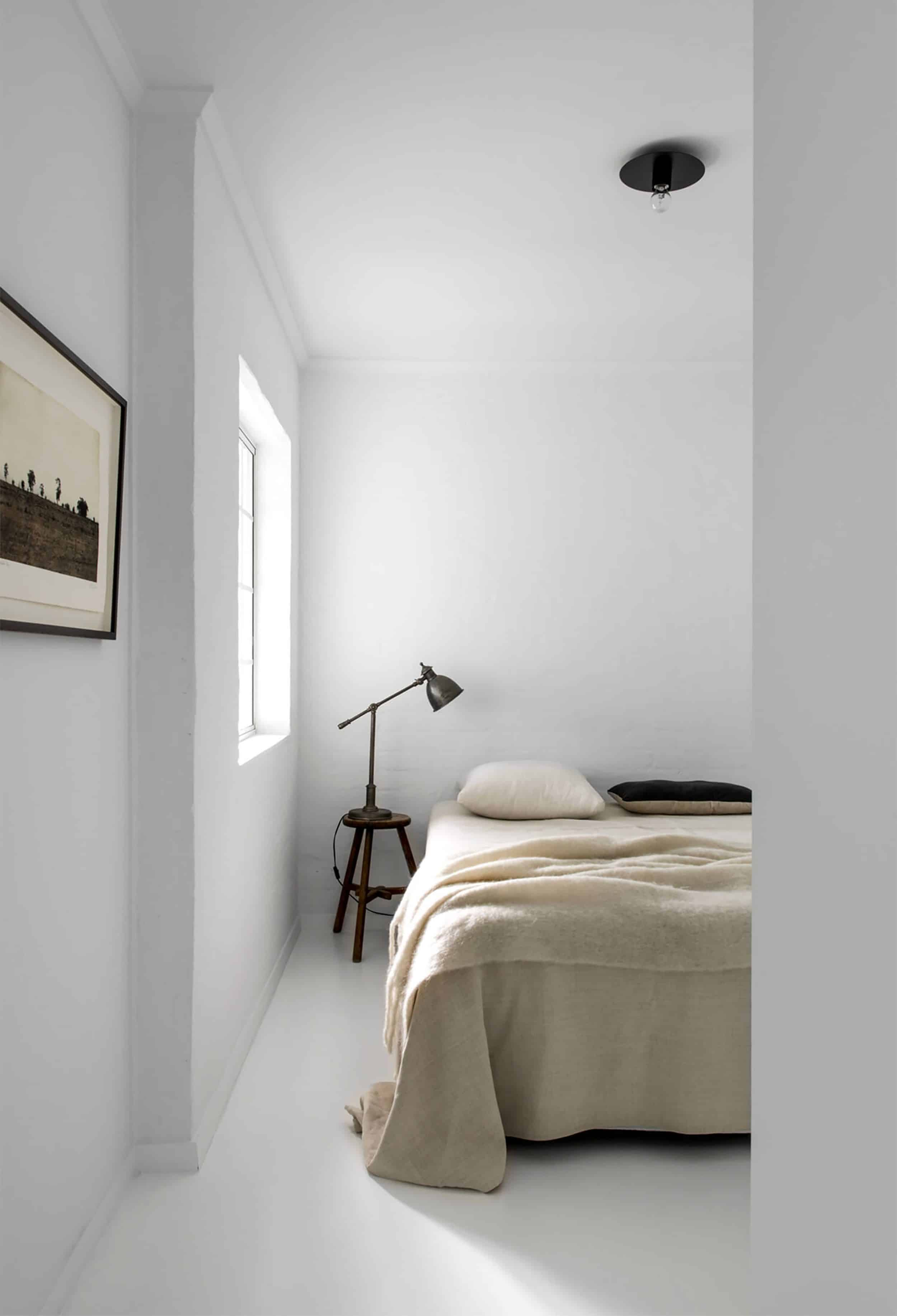Minimal Bedroom with White Walls