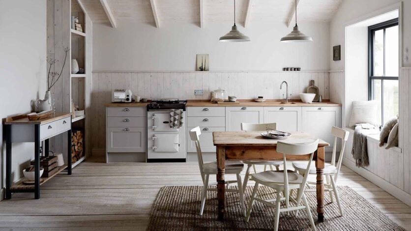 Gray Traditional Farmhouse Kitchen