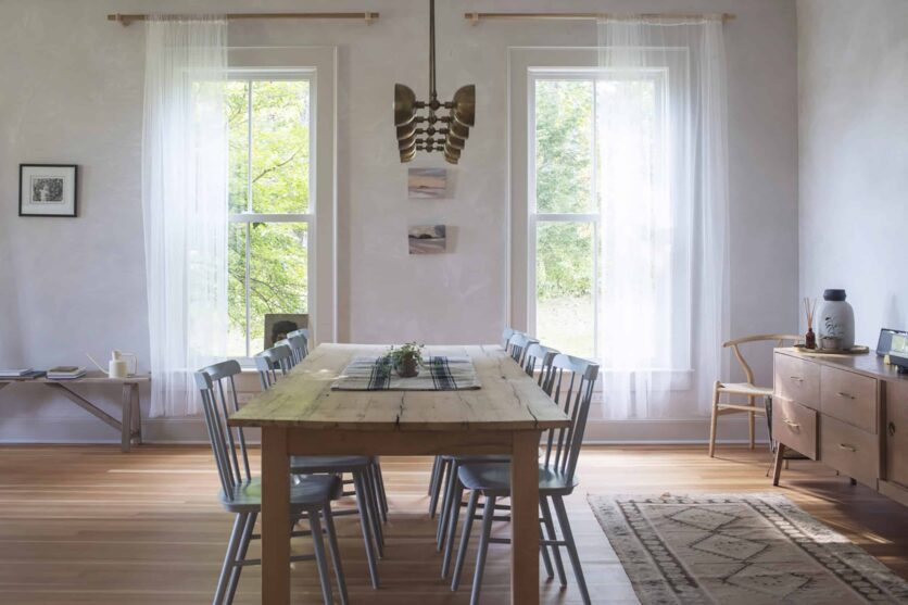 Modern Rustic and Traditional Dining Room