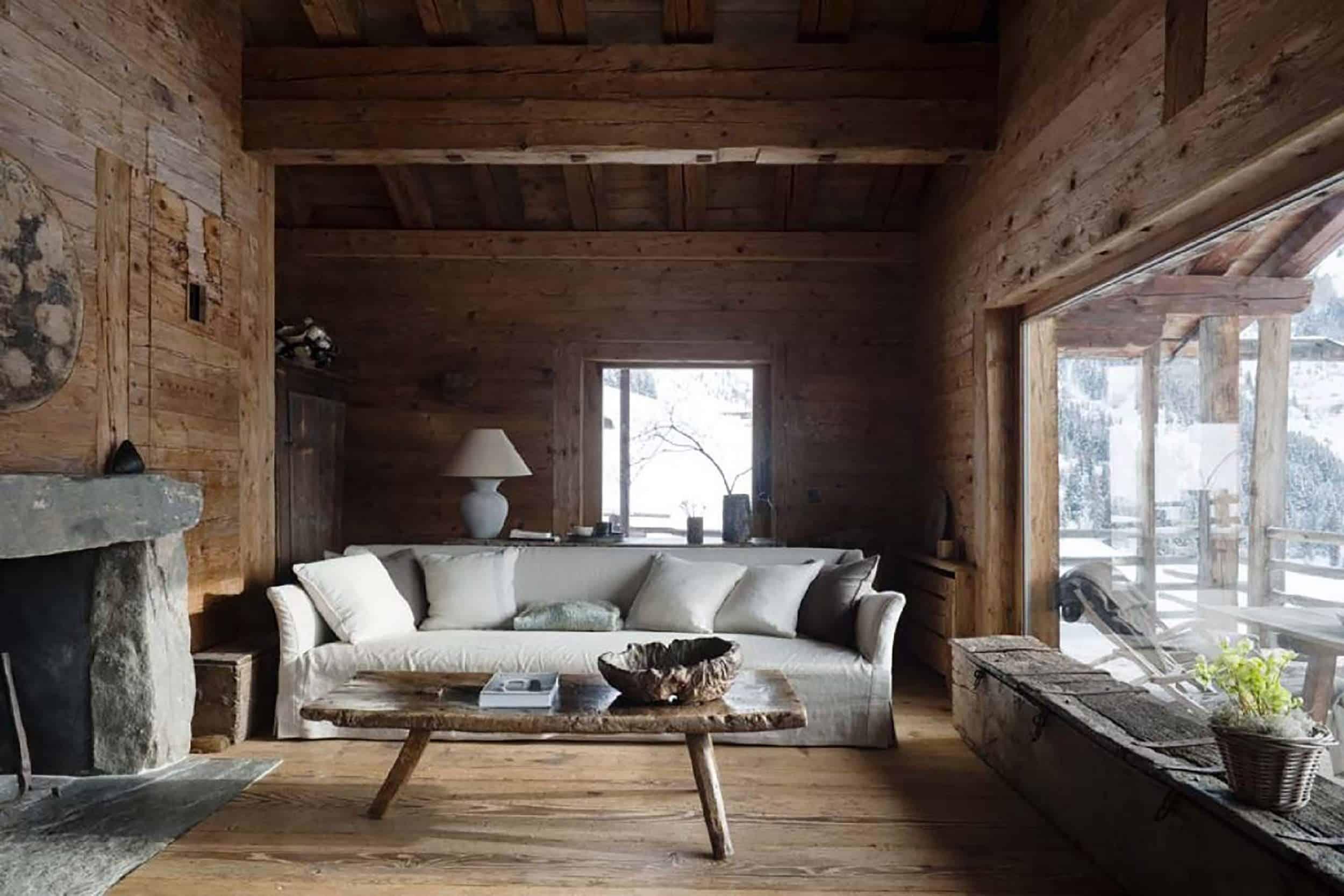 Modern Rustic Living Room Axel Vervoordt