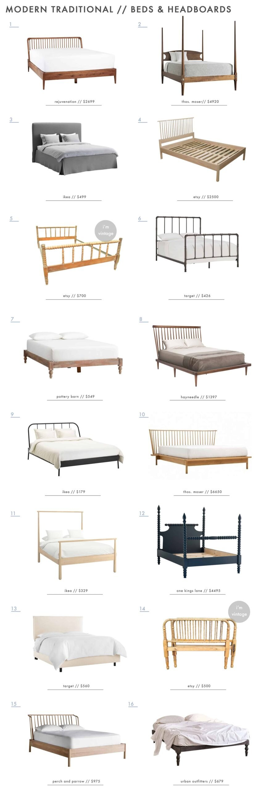 Emily Henderson Modern Simplified Traditional Furniture Beds Headboards Roundup 1