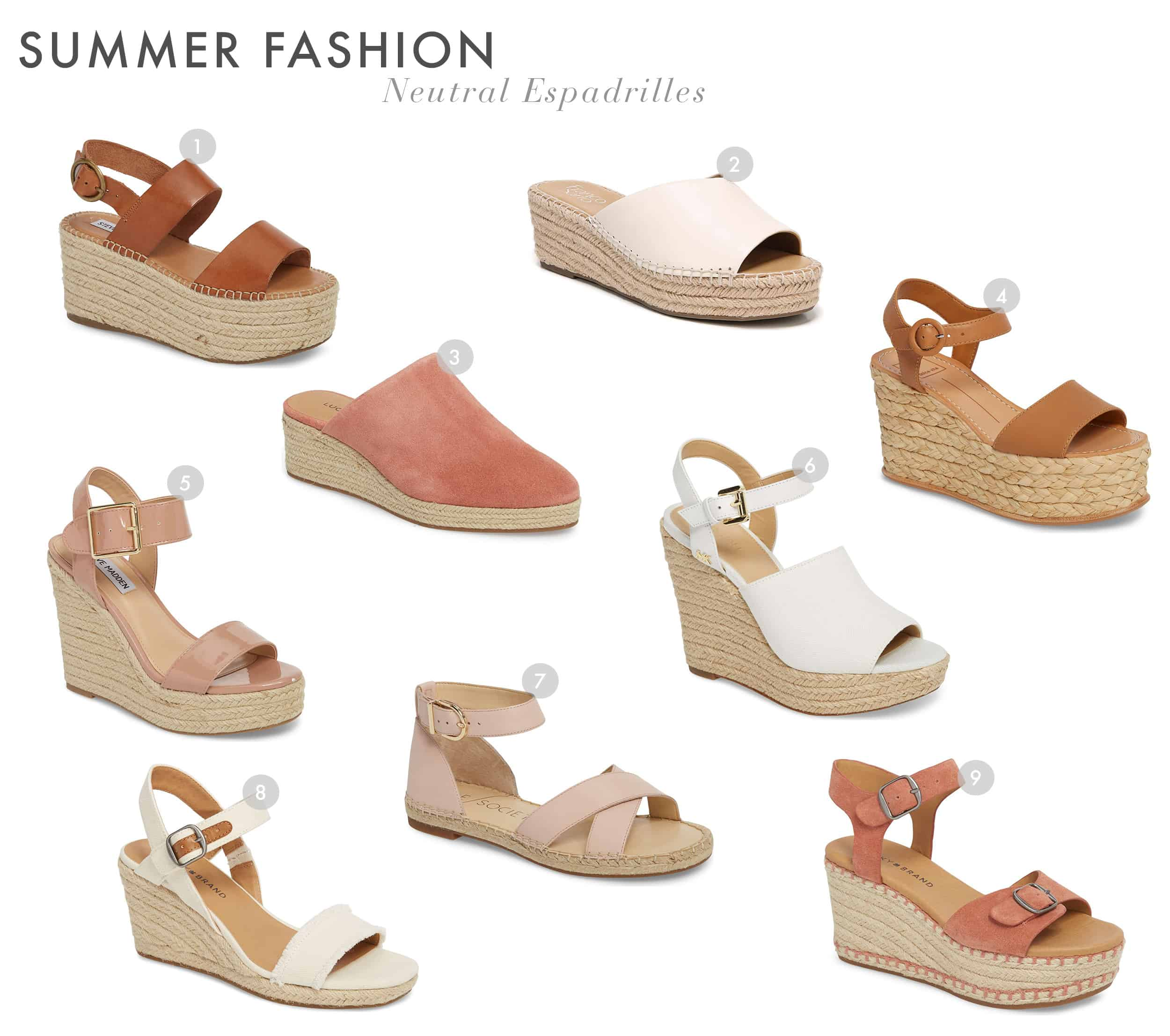 Emily Henderson Summer Fashion 2018 Neutral Shoes Espadrilles New 11