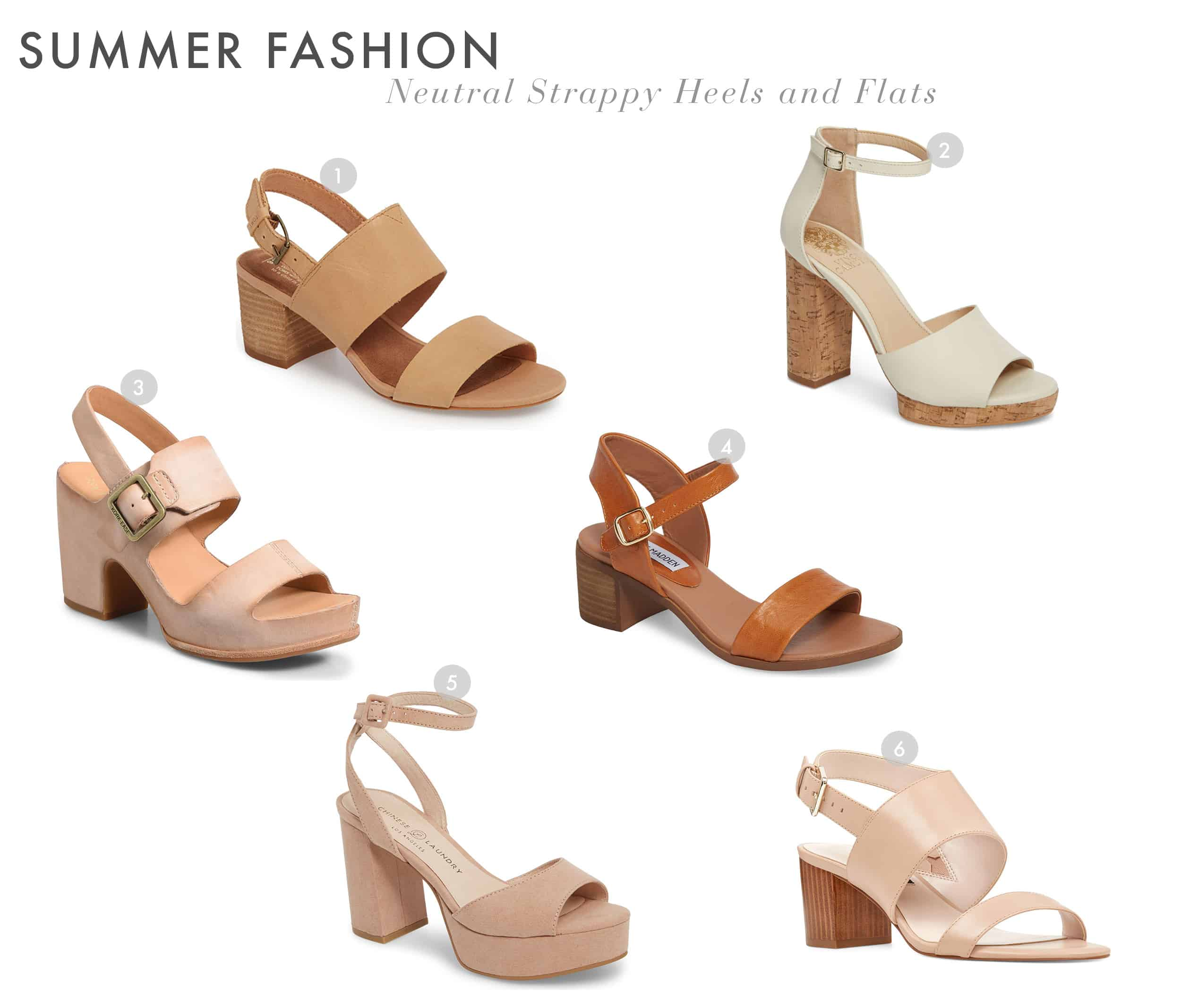 Emily Henderson Summer Fashion 2018 Neutral Shoes Strappy Heels And Flats 1