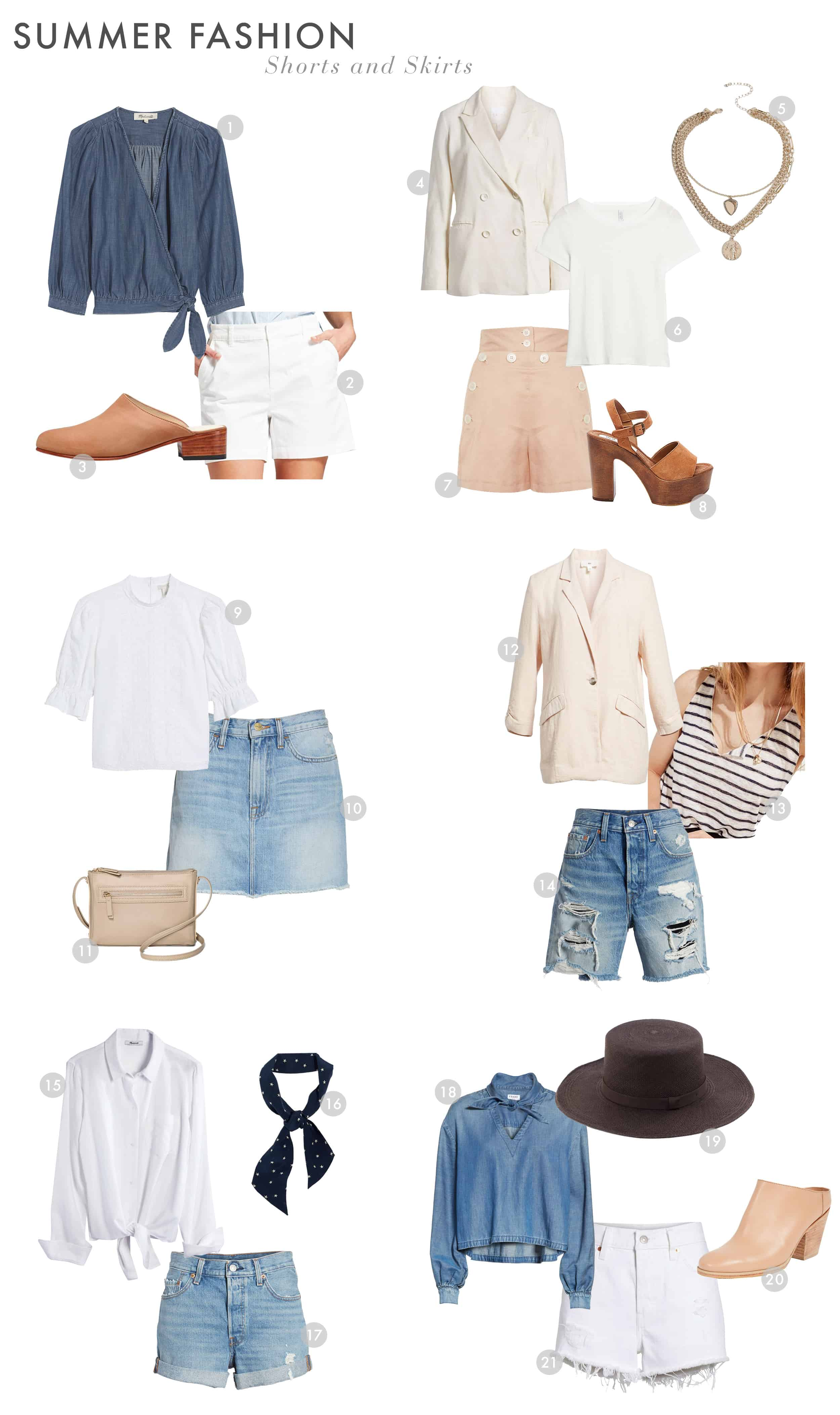 Emily Henderson Summer Fashion 2018 Shorts And Skirts 1