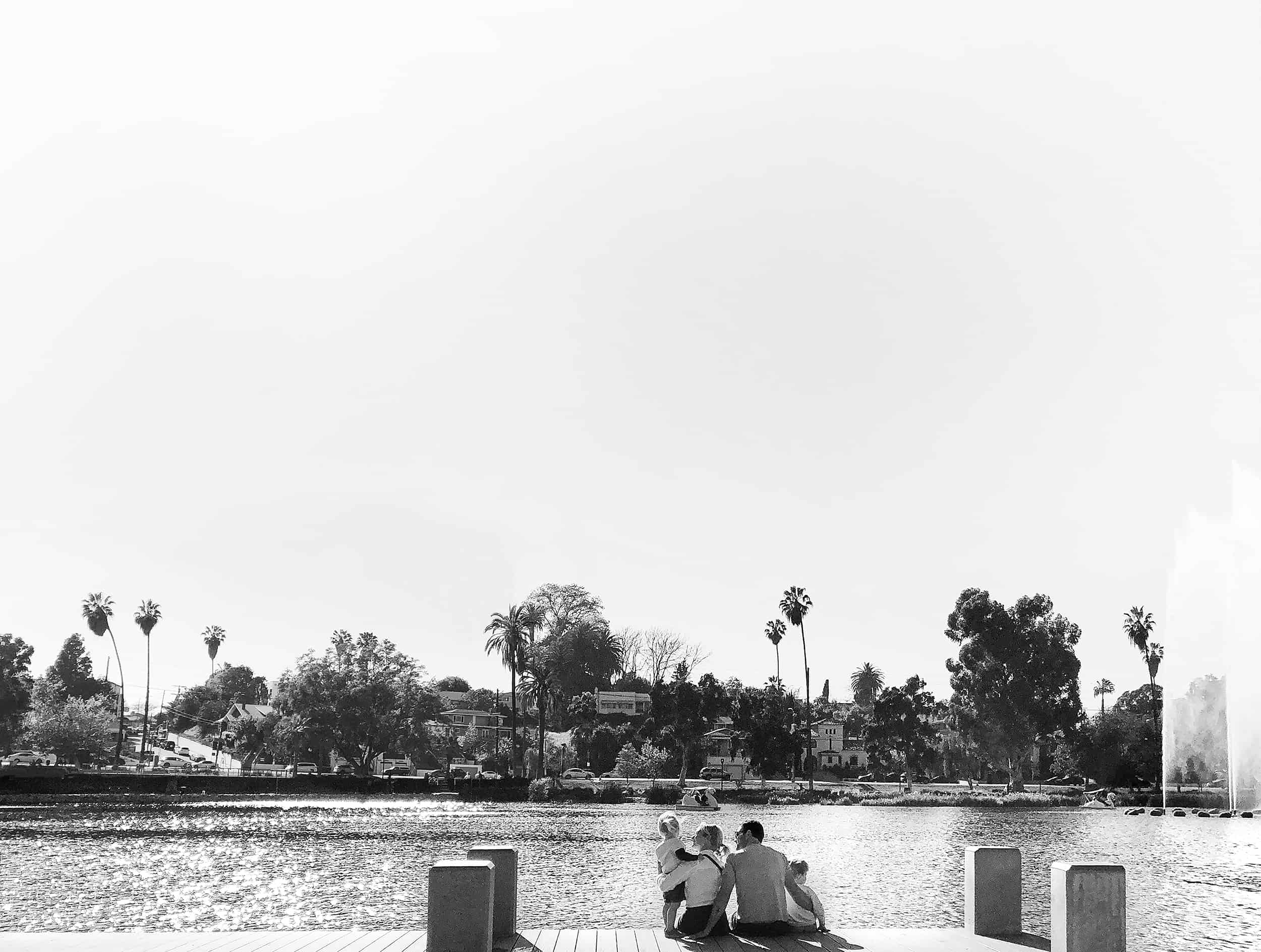 Emily Henderson Family Photo Echo Park Lake