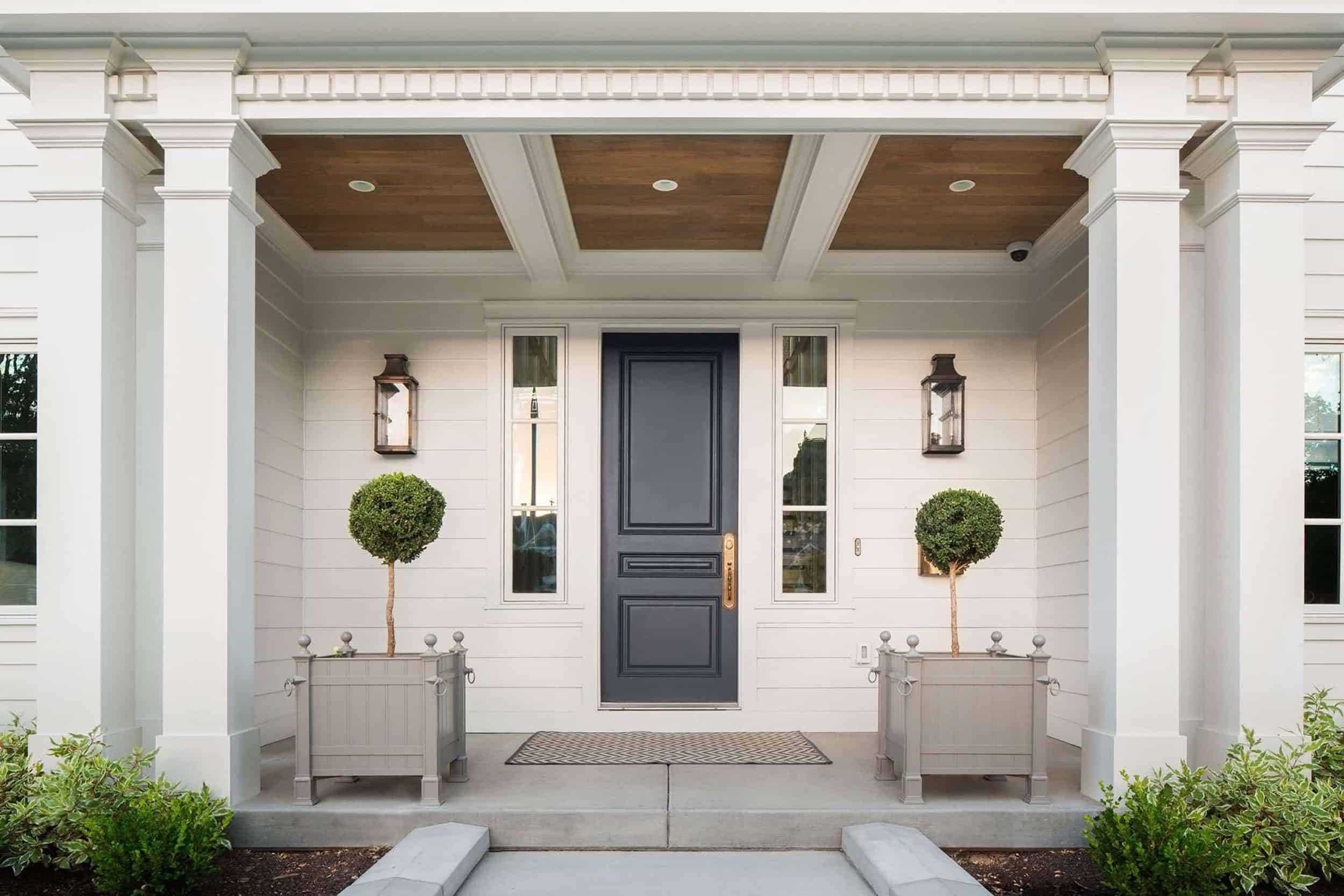 Traditional Front Door Dark Blue