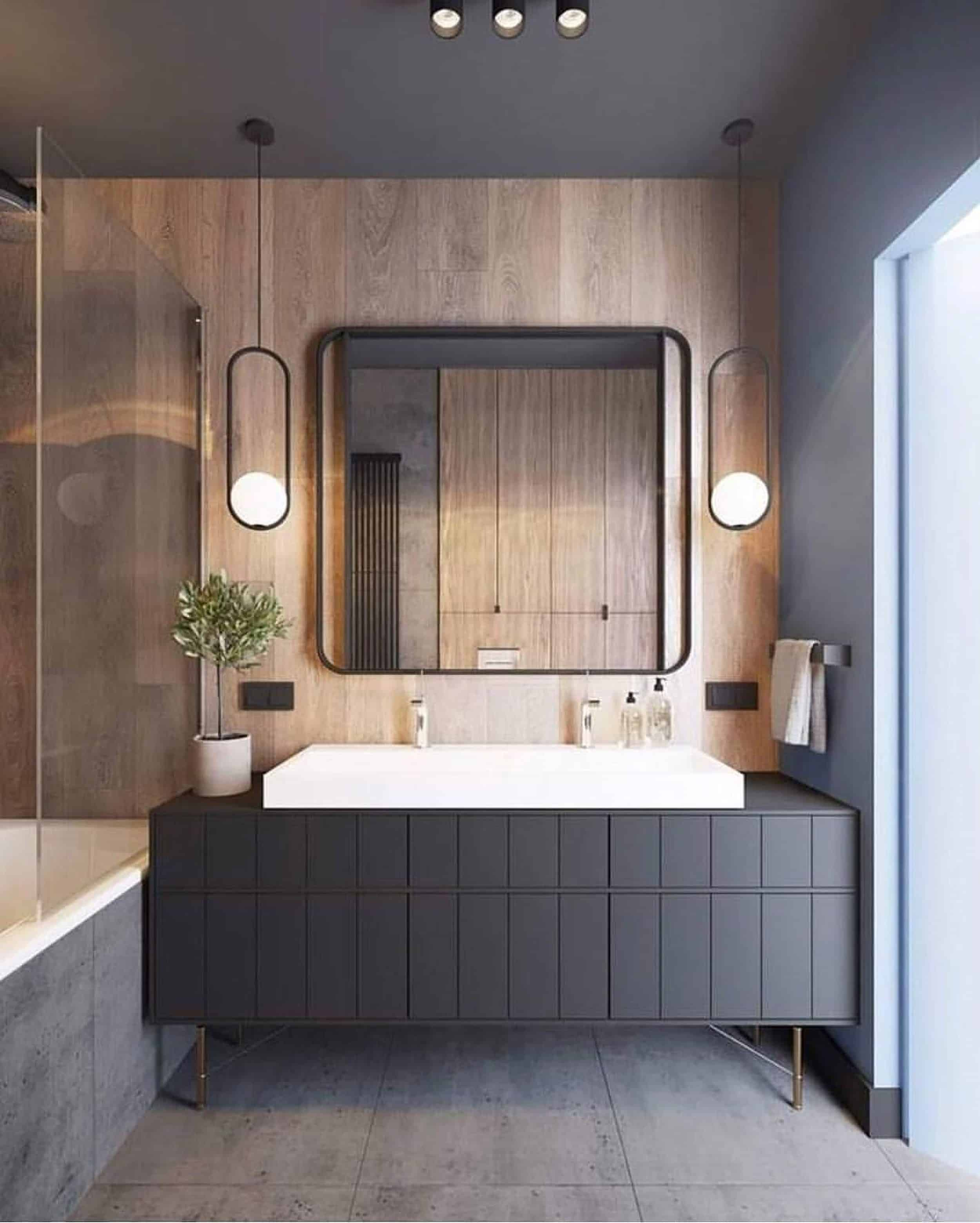 Modern Bathroom Black Vanity