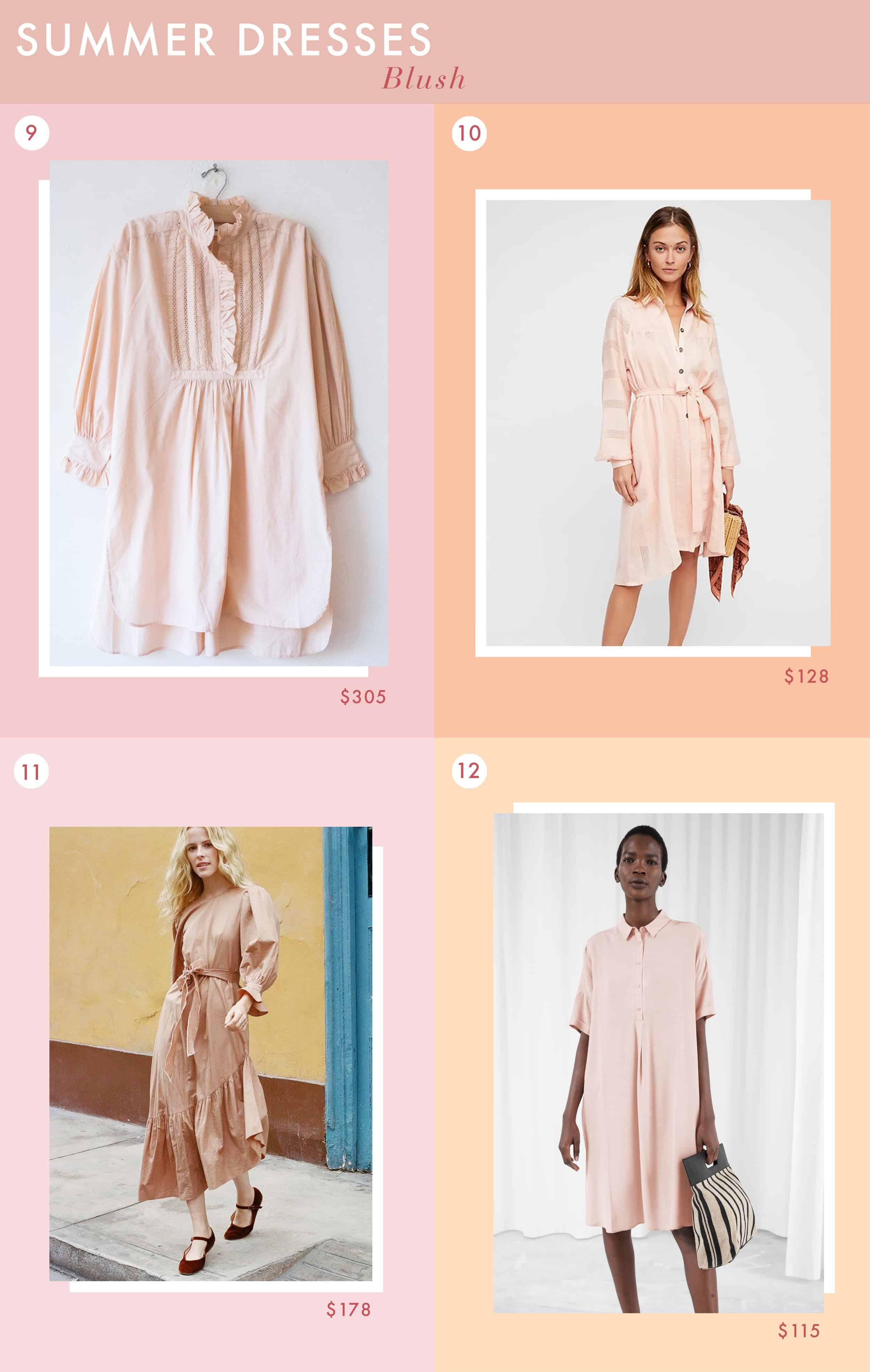 Emily Henderson Fashion Summer Dresses Solids Blush