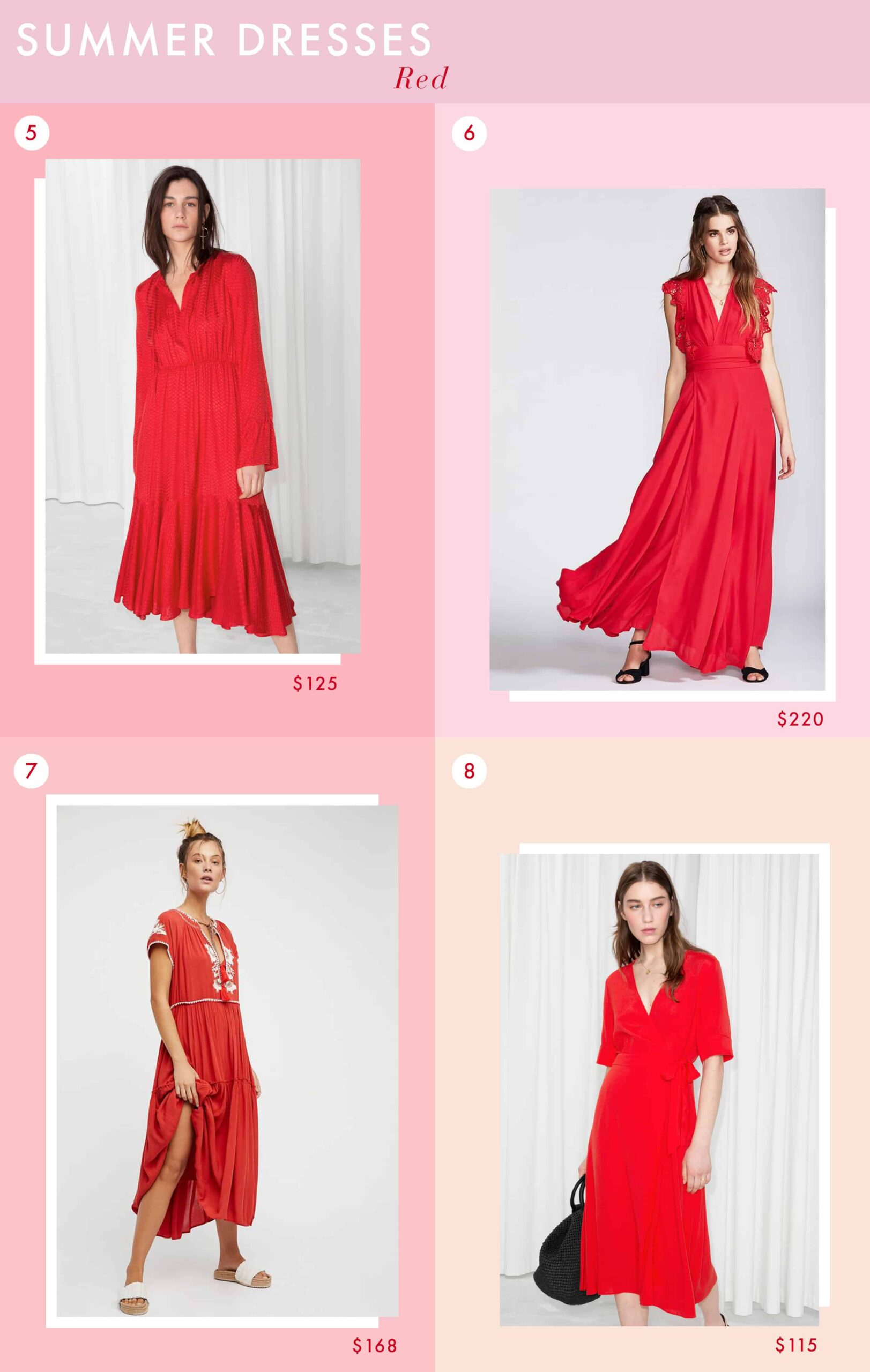 Emily Henderson Fashion Summer Dresses Solids Red