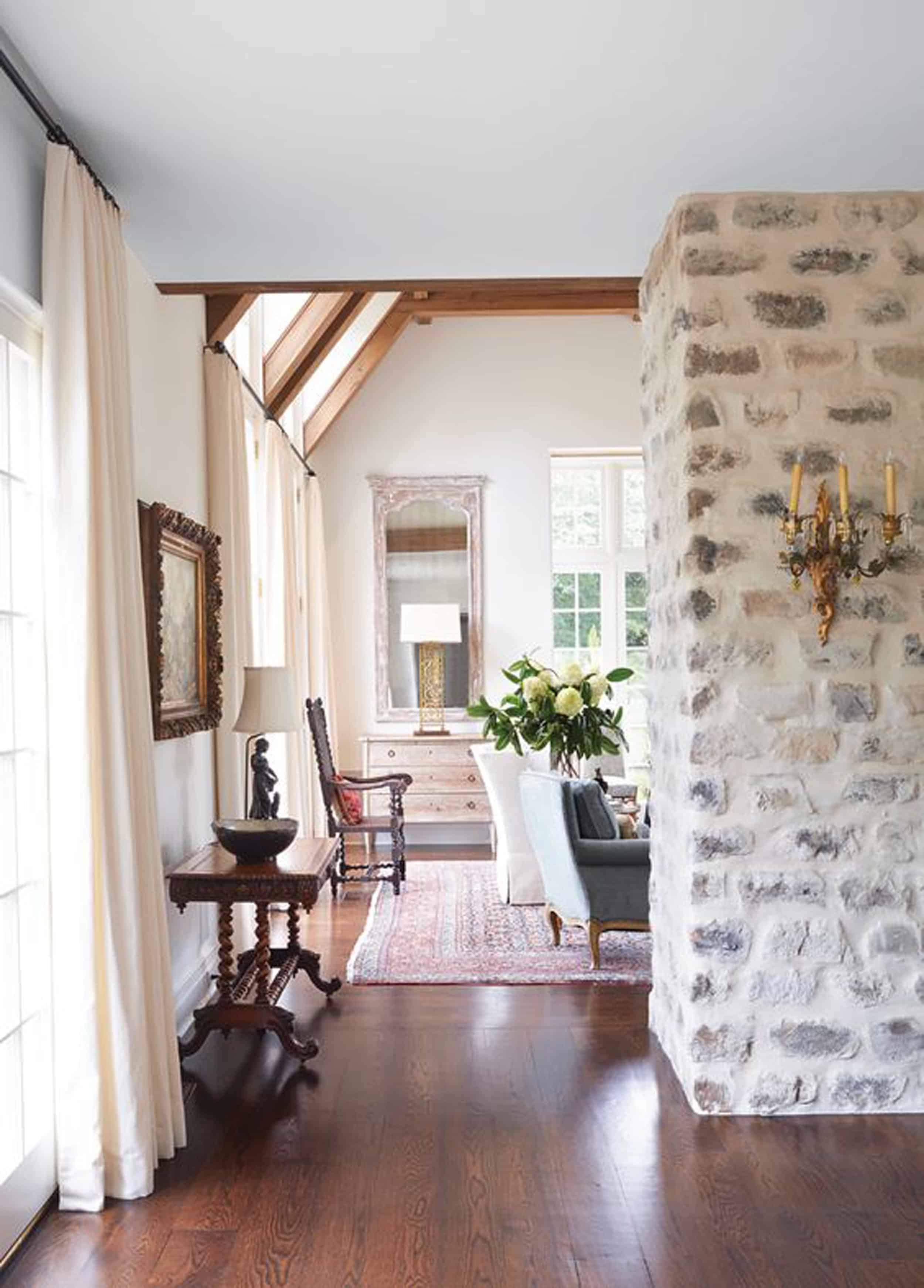 Emily Henderson Lake House Fixer Upper Mountain Home Decor Fireplace Ideas Rustic Refined Simple White Wood Stone 111