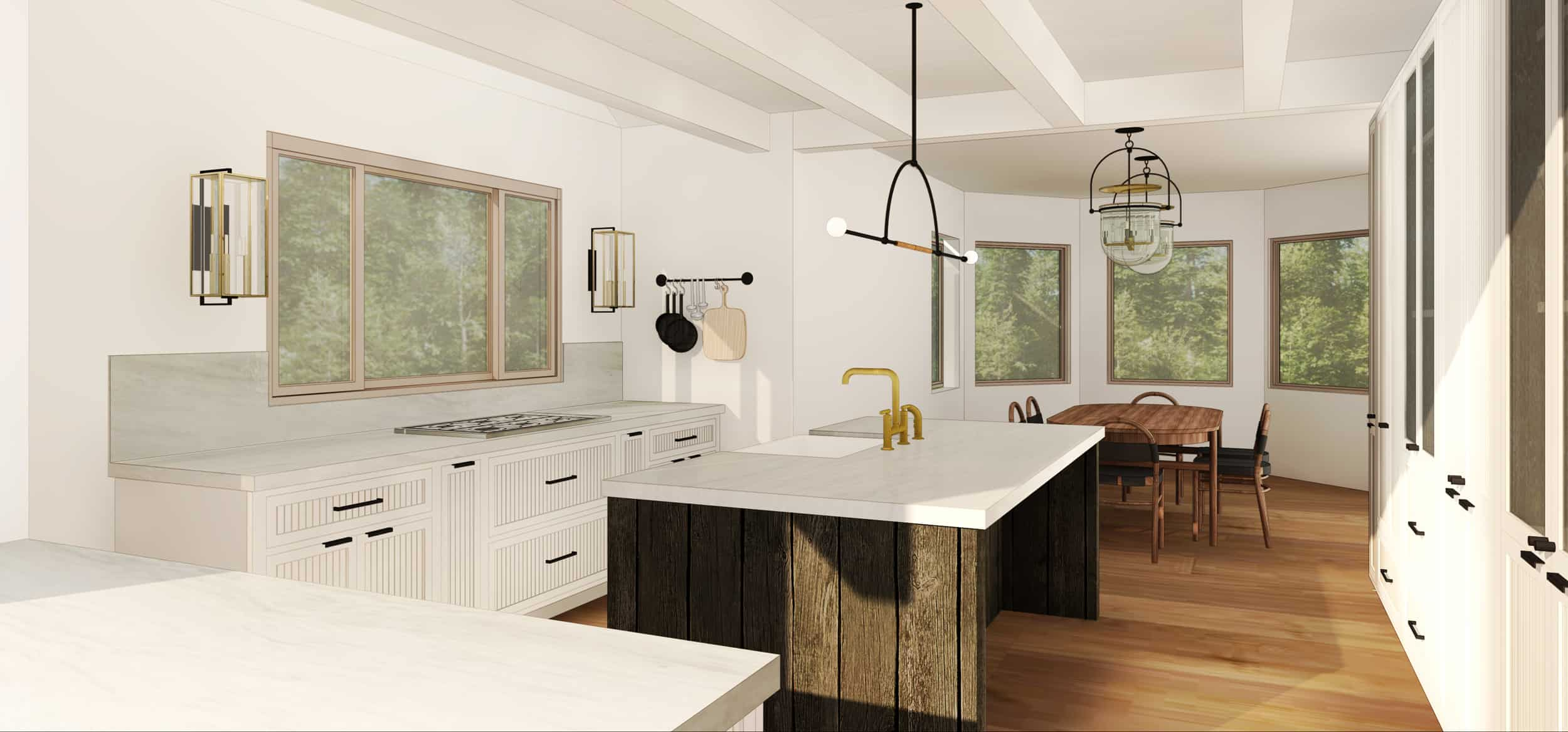 Emily Henderson Mountain Fixer Upper I Design You Decide Kitchen Ps Option1