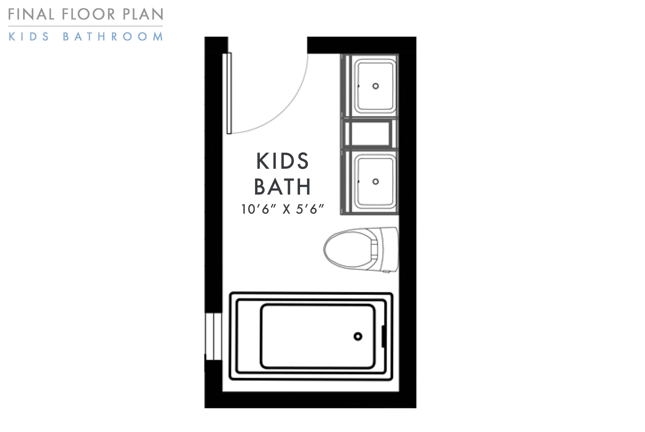 Emily Henderson Mountain Fixer Upper Kids Bathroom Update Floor Plan
