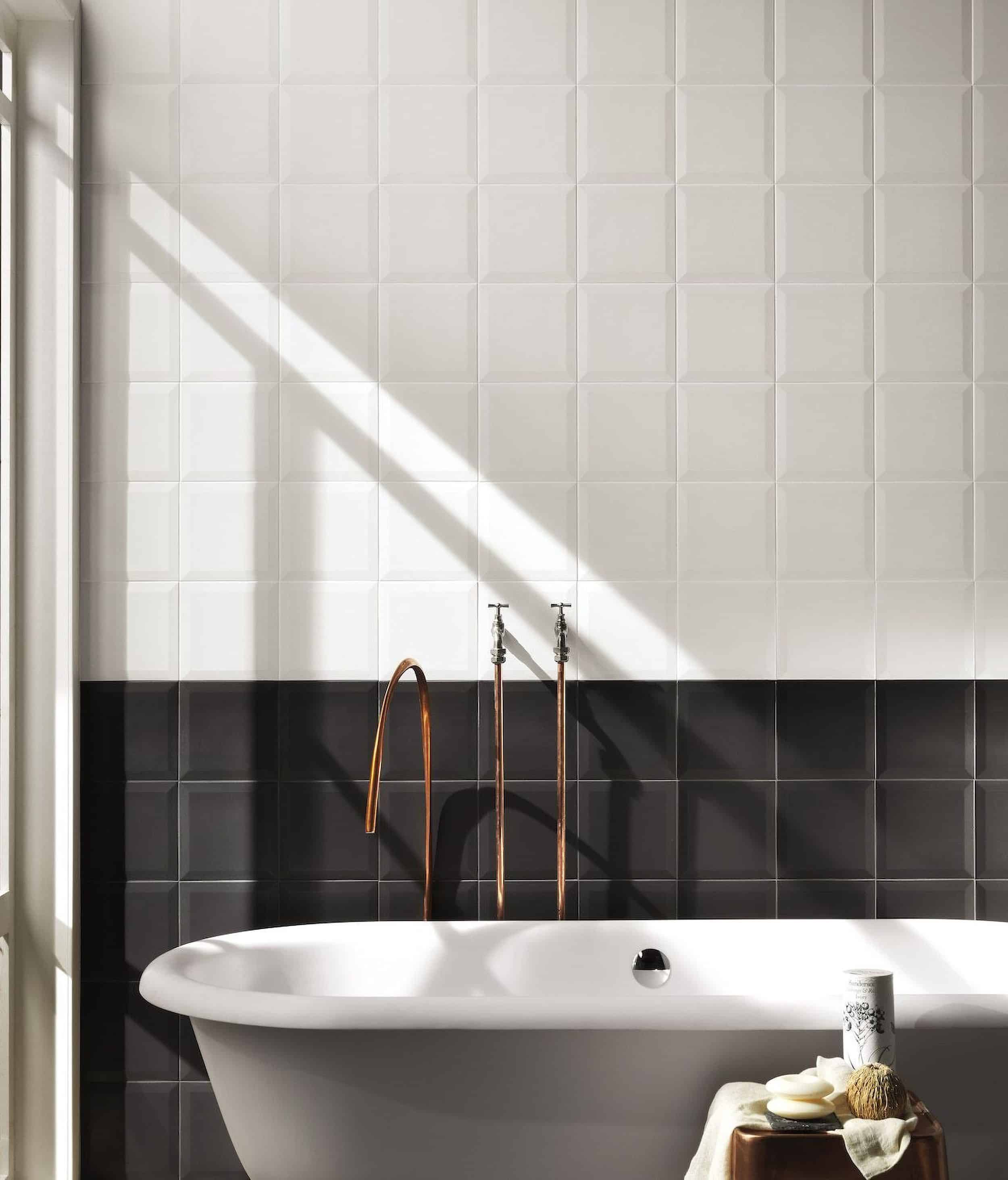 Modern Bathroom Black and White Tiles