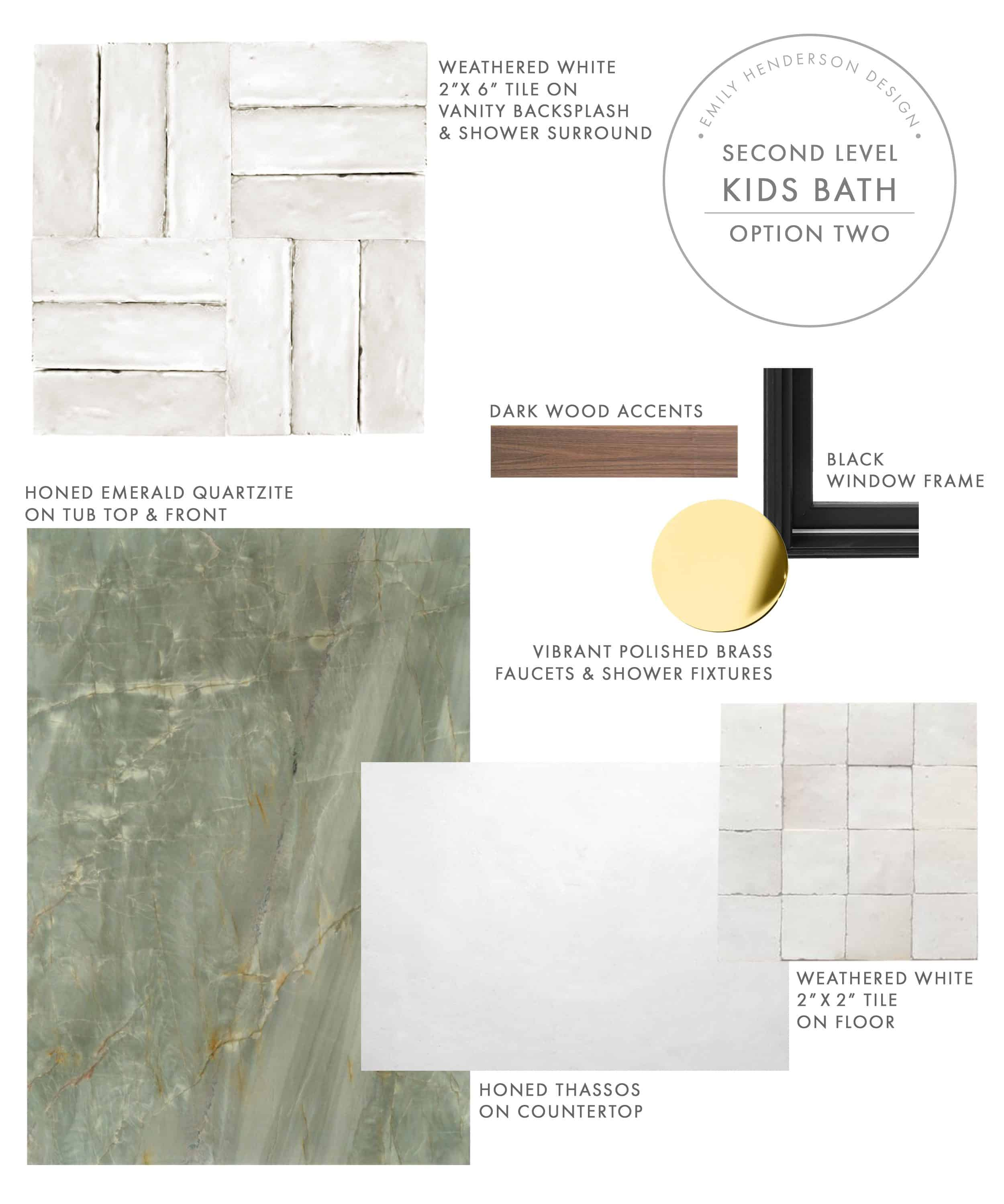Emily Henderson Mountain Fixer Upper I Design You Decide Kids Bath Materials Option Two