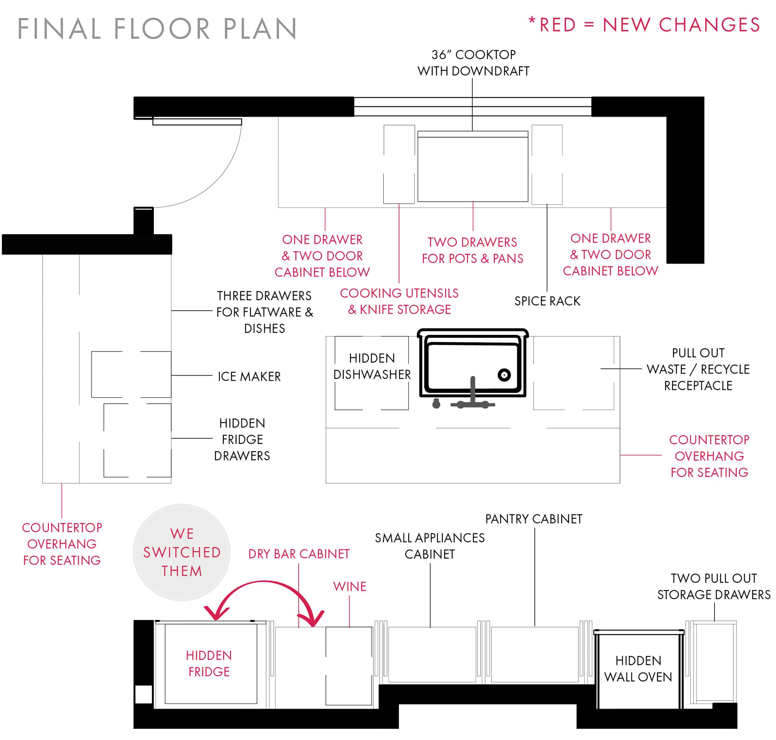 Emily Henderson Mountain Fixer Upper I Design You Decide Kitchen Plan With Notations 01