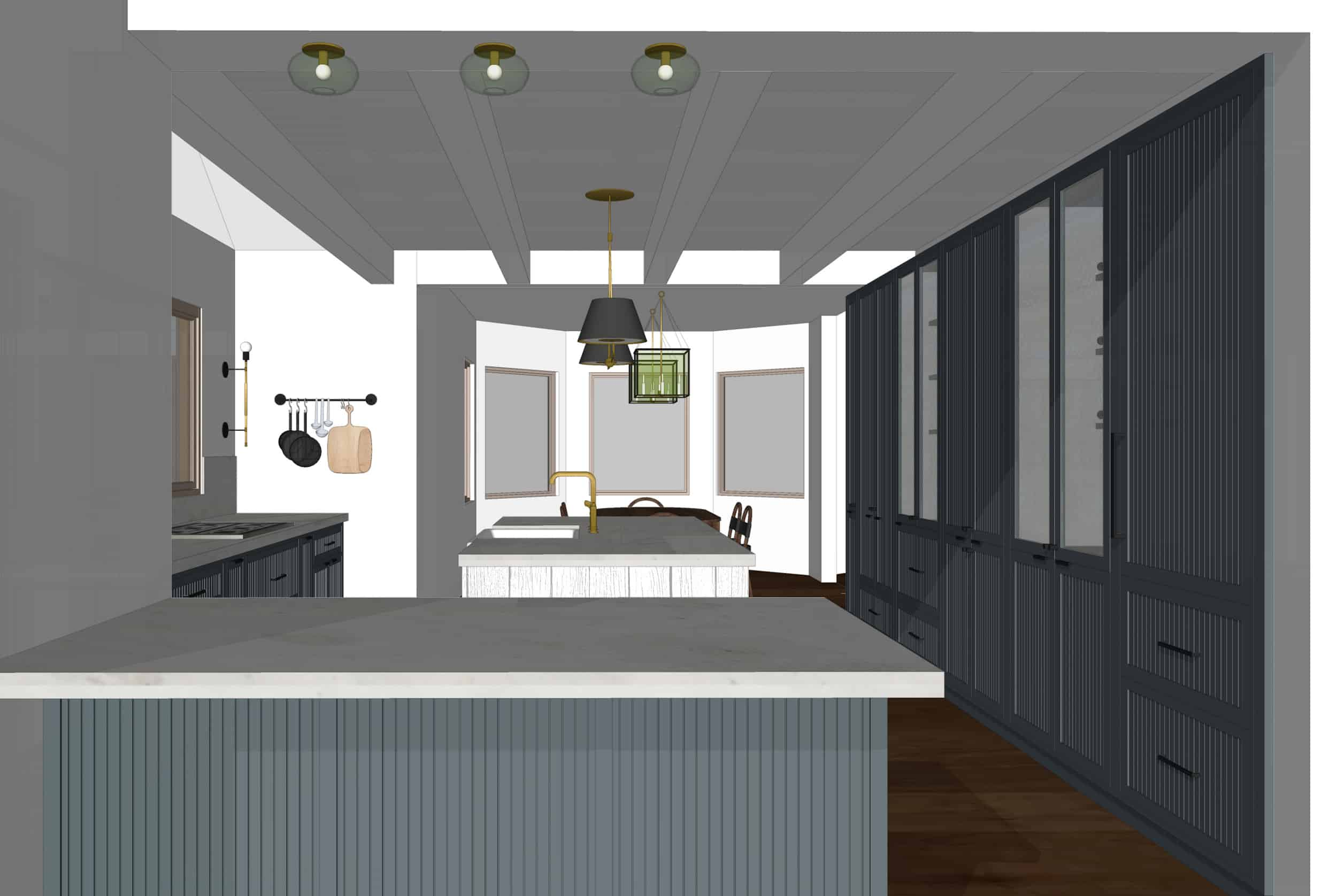 Emily Henderson Mountain Fixer Upper I Design You Decide Kitchen Render 01